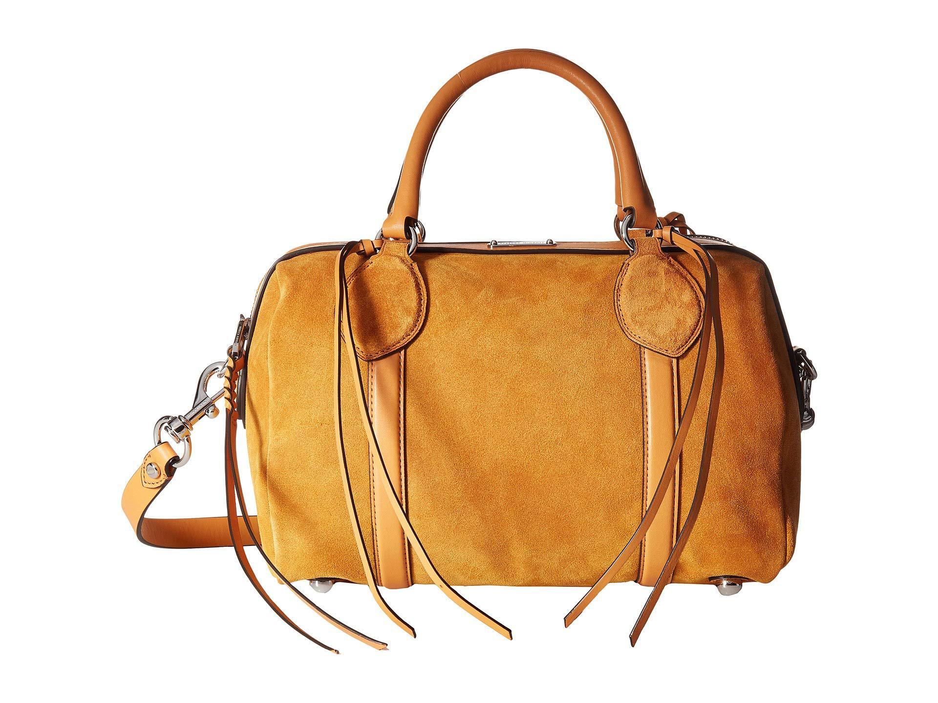Rebecca Minkoff Women S Pippa Duffel Suede Mink Handbags