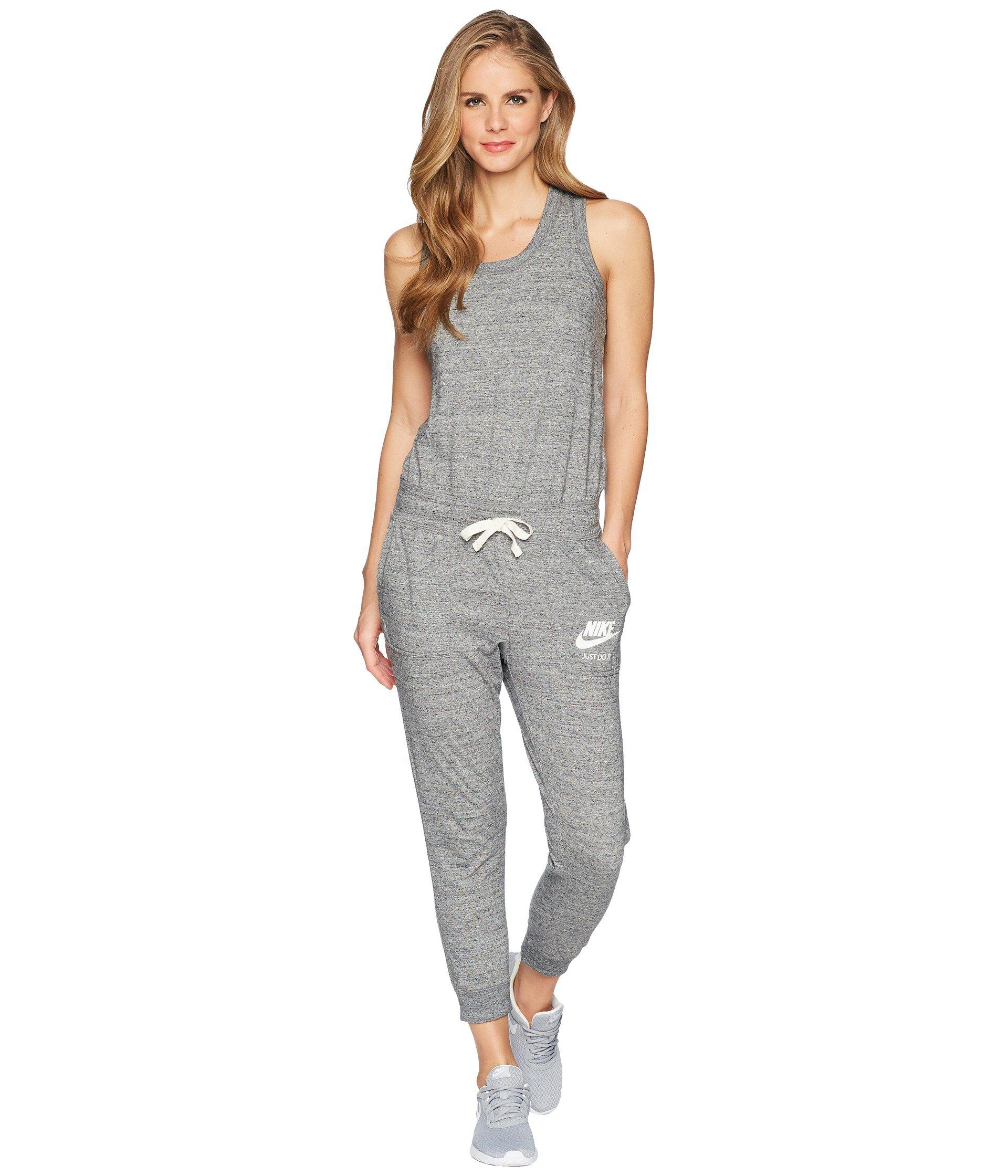 eb9b7323a25c Nike. Gray Sportswear Gym Vintage Romper (carbon Heather sail) Women s ...