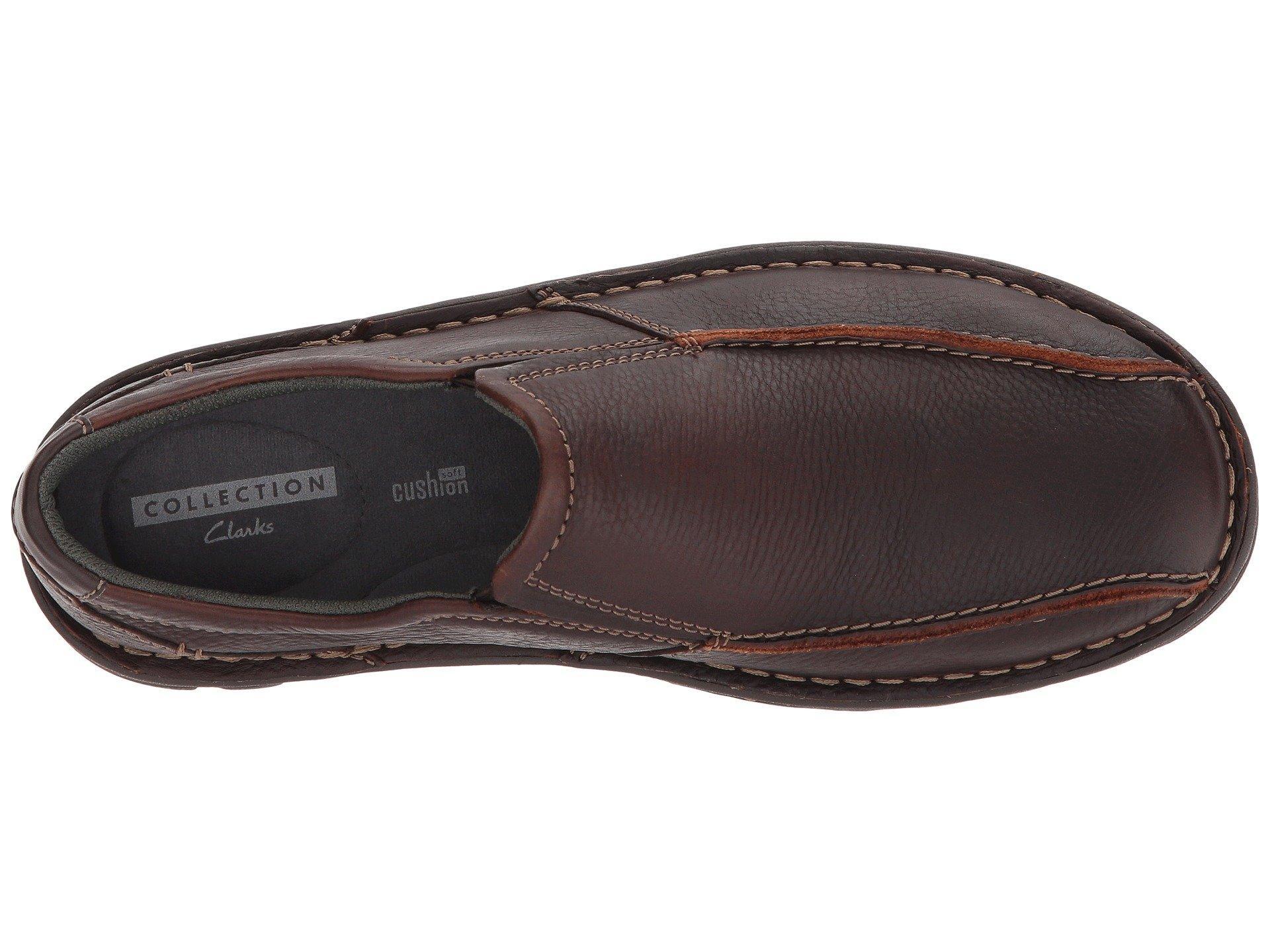 fdab6ee4cef Clarks - Brown Vanek Step (black Oily Leather) Men s Shoes for Men - Lyst.  View fullscreen