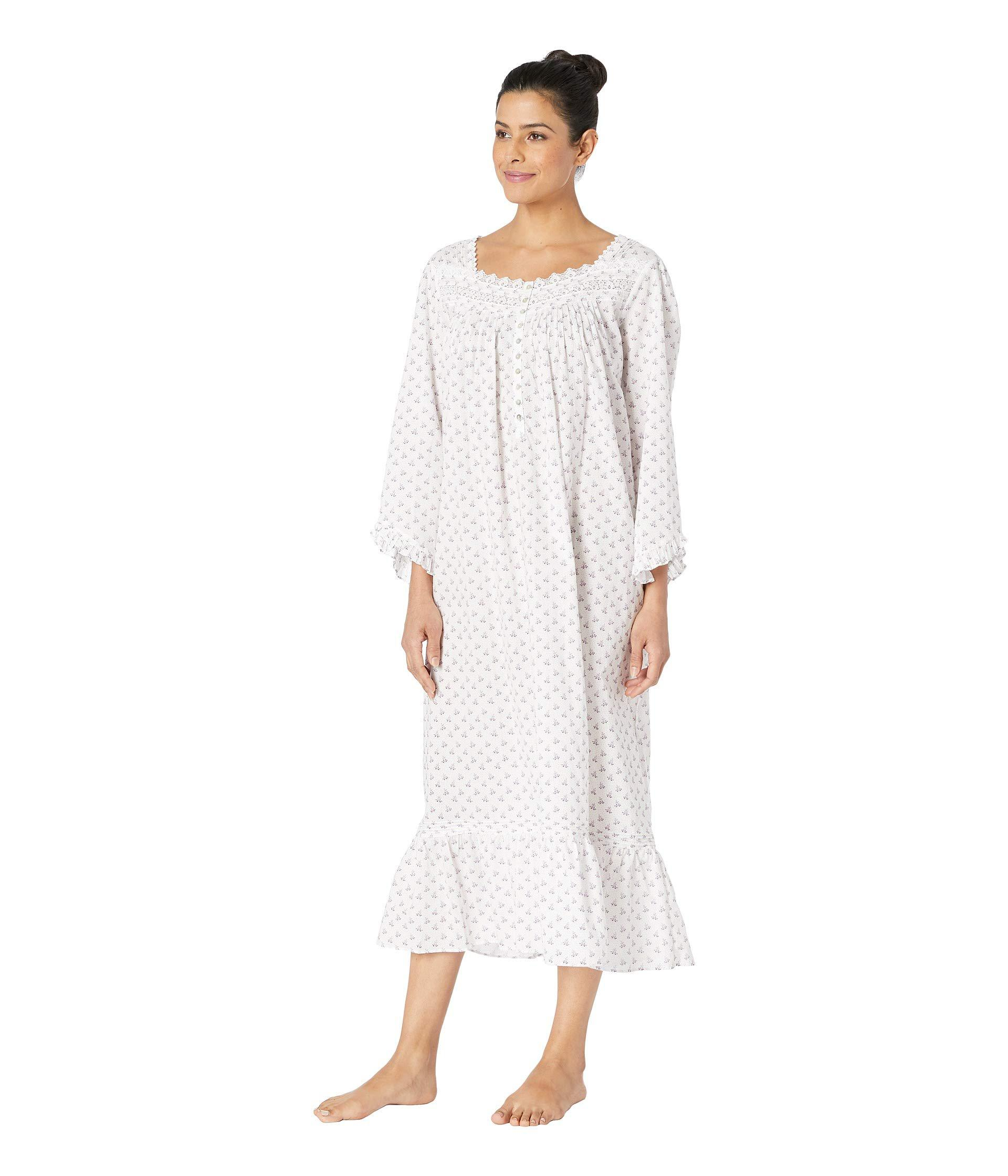 d6facbc649 Lyst - Eileen West Ballet Long Sleeve Nightgown (white Lilac Floral Dot) Women s  Pajama in White