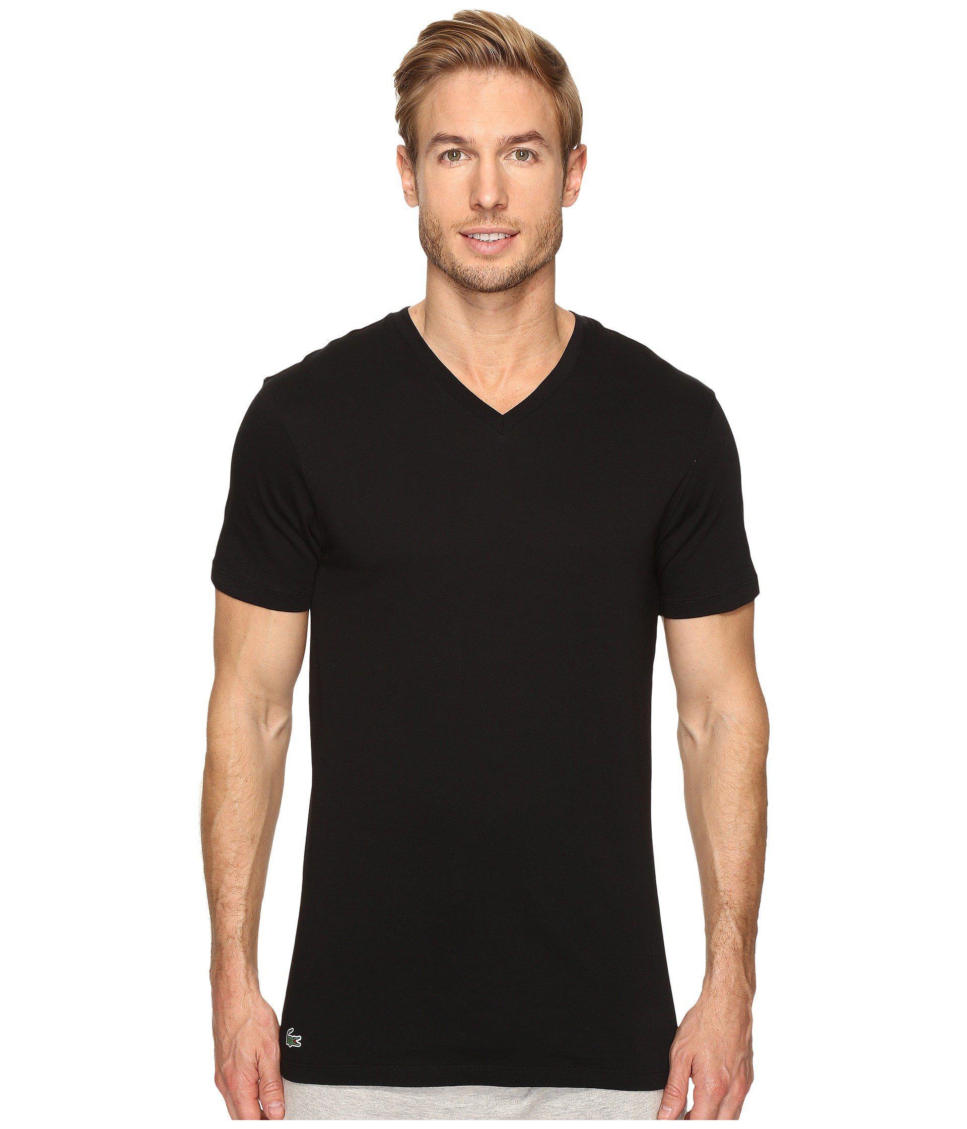 a56138c4 Lyst - Lacoste Essentials 3-pack V-neck Tee (black) Men's Underwear ...