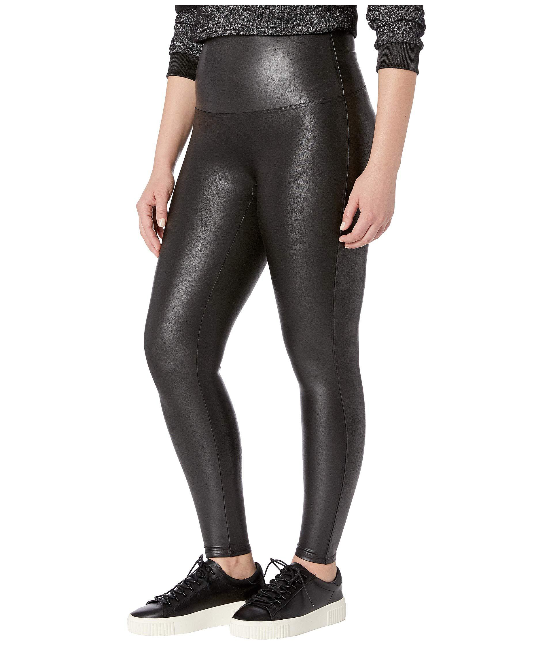 b990af7b68f Spanx Plus Size Faux Leather Petite Leggings (black) Women s Casual Pants  in Black - Lyst