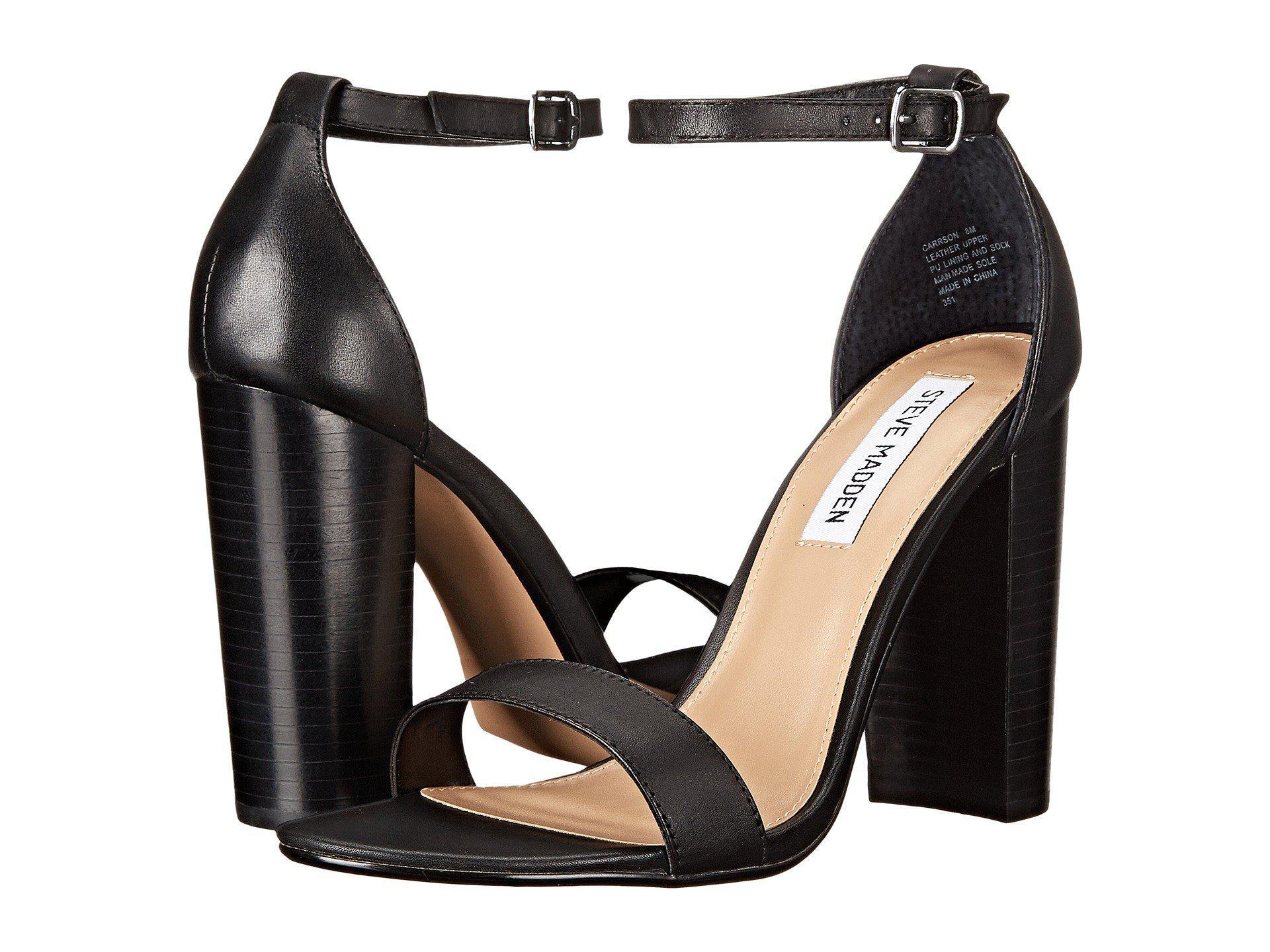b2bb0ae2982 Lyst - Steve Madden Carrson Heeled Sandal (black Suede) High Heels ...