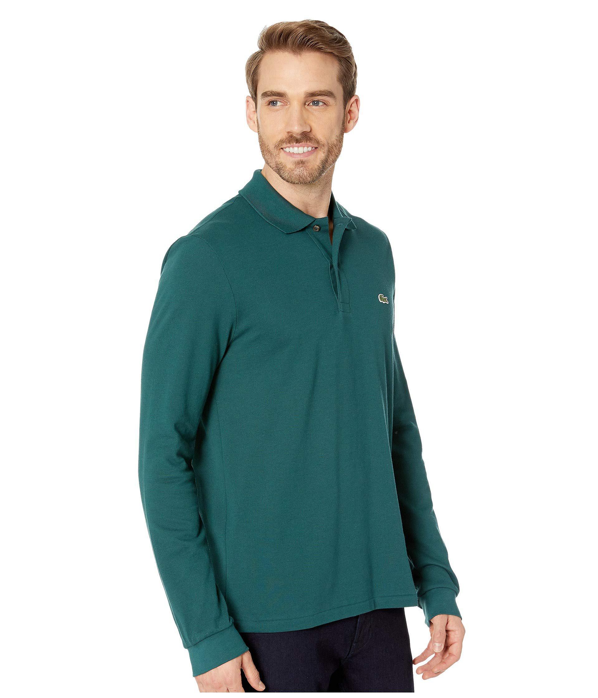 334d6afe Lacoste - Green Long Sleeve Classic Pique Polo Shirt (navy Blue) Men's Long  Sleeve. View fullscreen