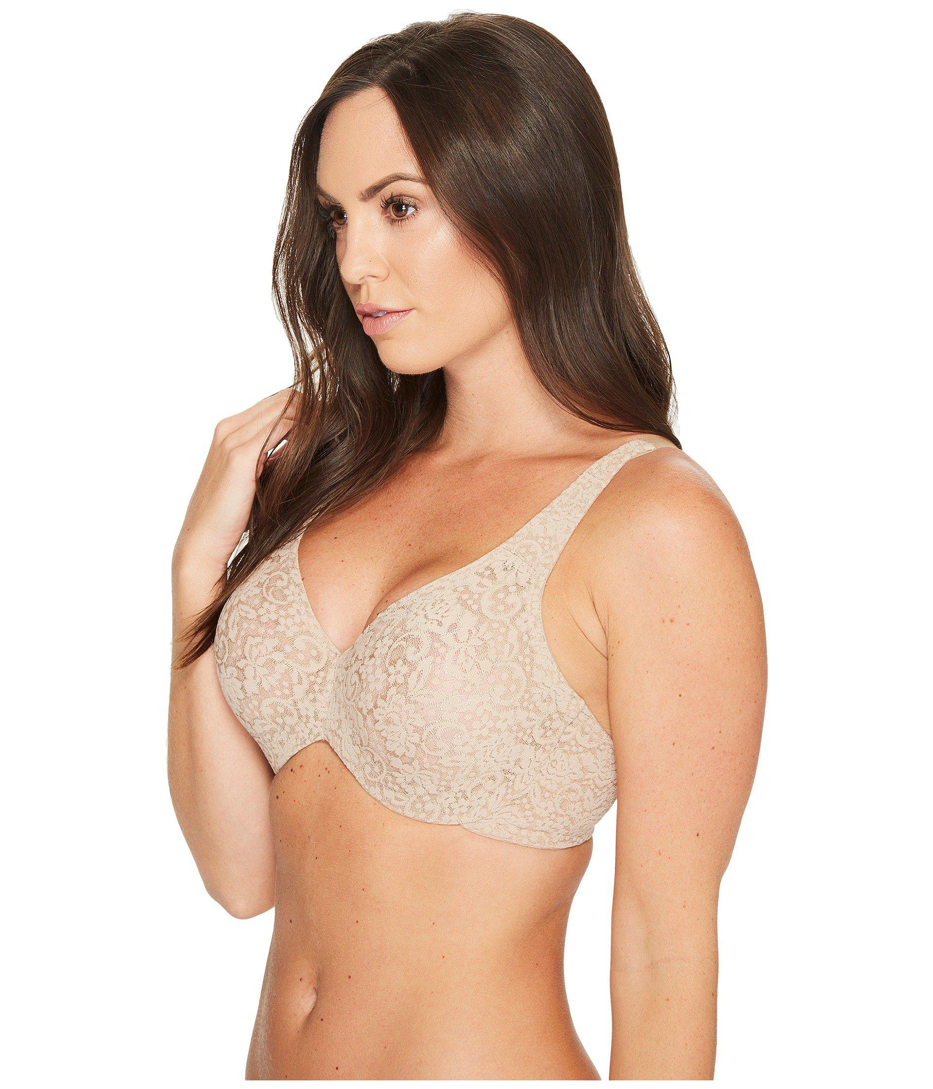 4462cd1aa2 Lyst - Wacoal Halo Lace Full Figure Underwire 65547 (toast) Women s Bra in  Natural