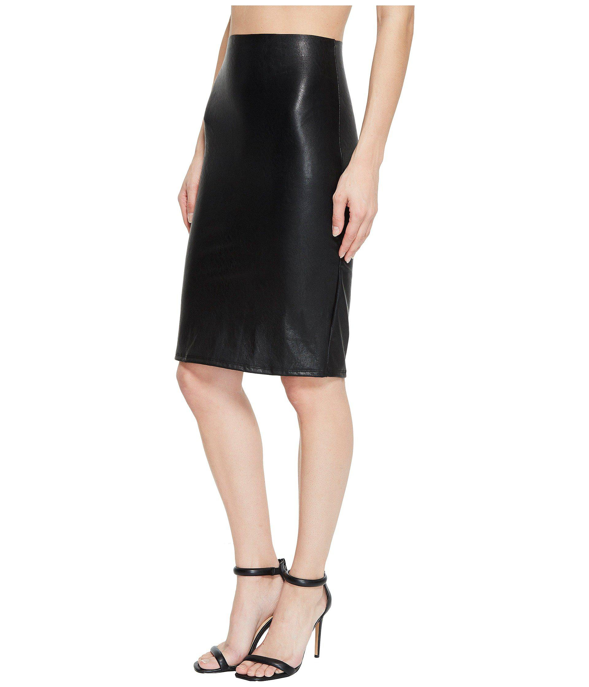 894498779c963 Lyst - Commando Faux Leather Perfect Pencil Skirt Sk01 (black) Women s Skirt  in Black