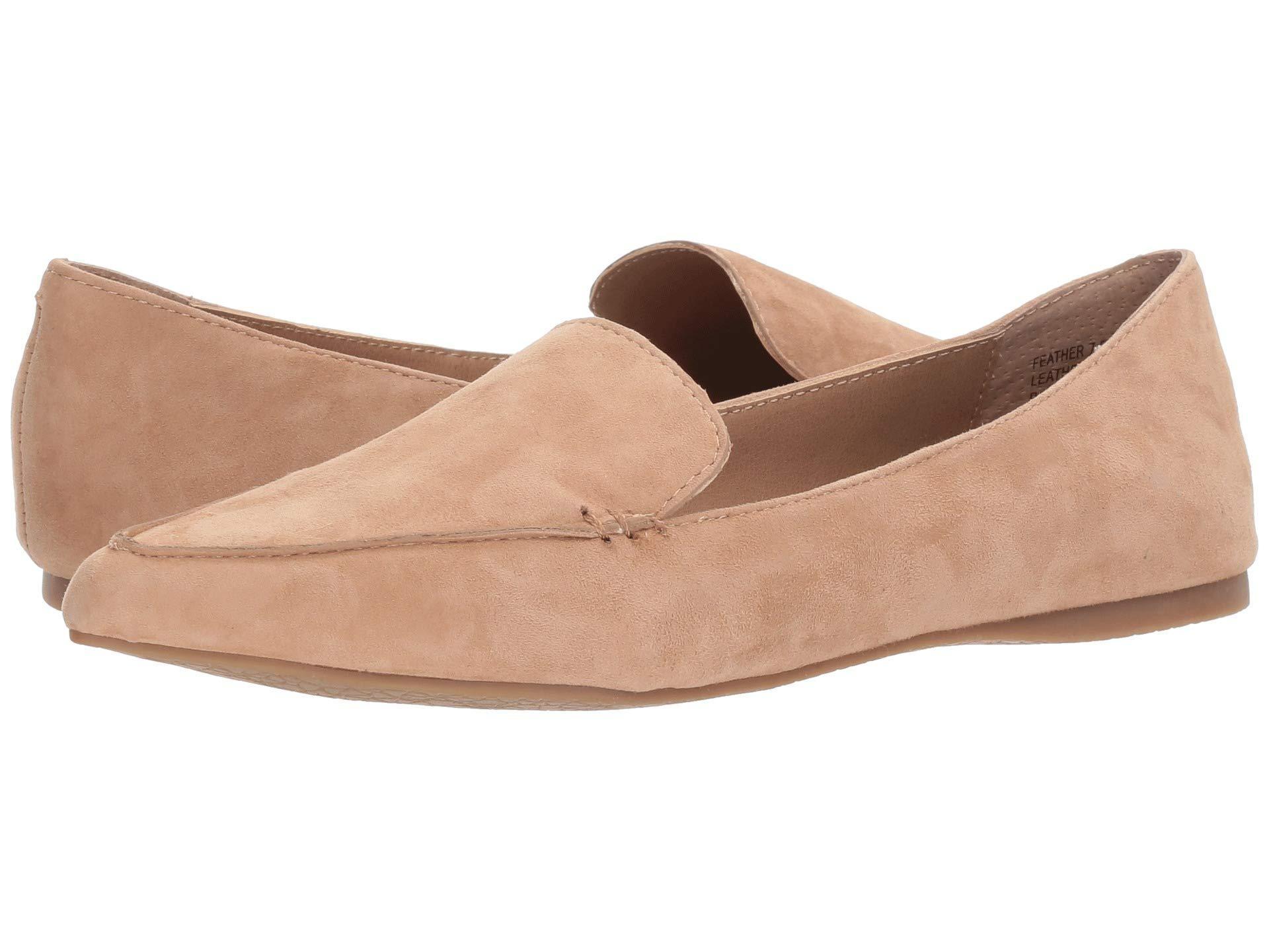 8136af4ec Steve Madden Feather Loafer Flat (mustard Suede) Women's Dress Flat ...