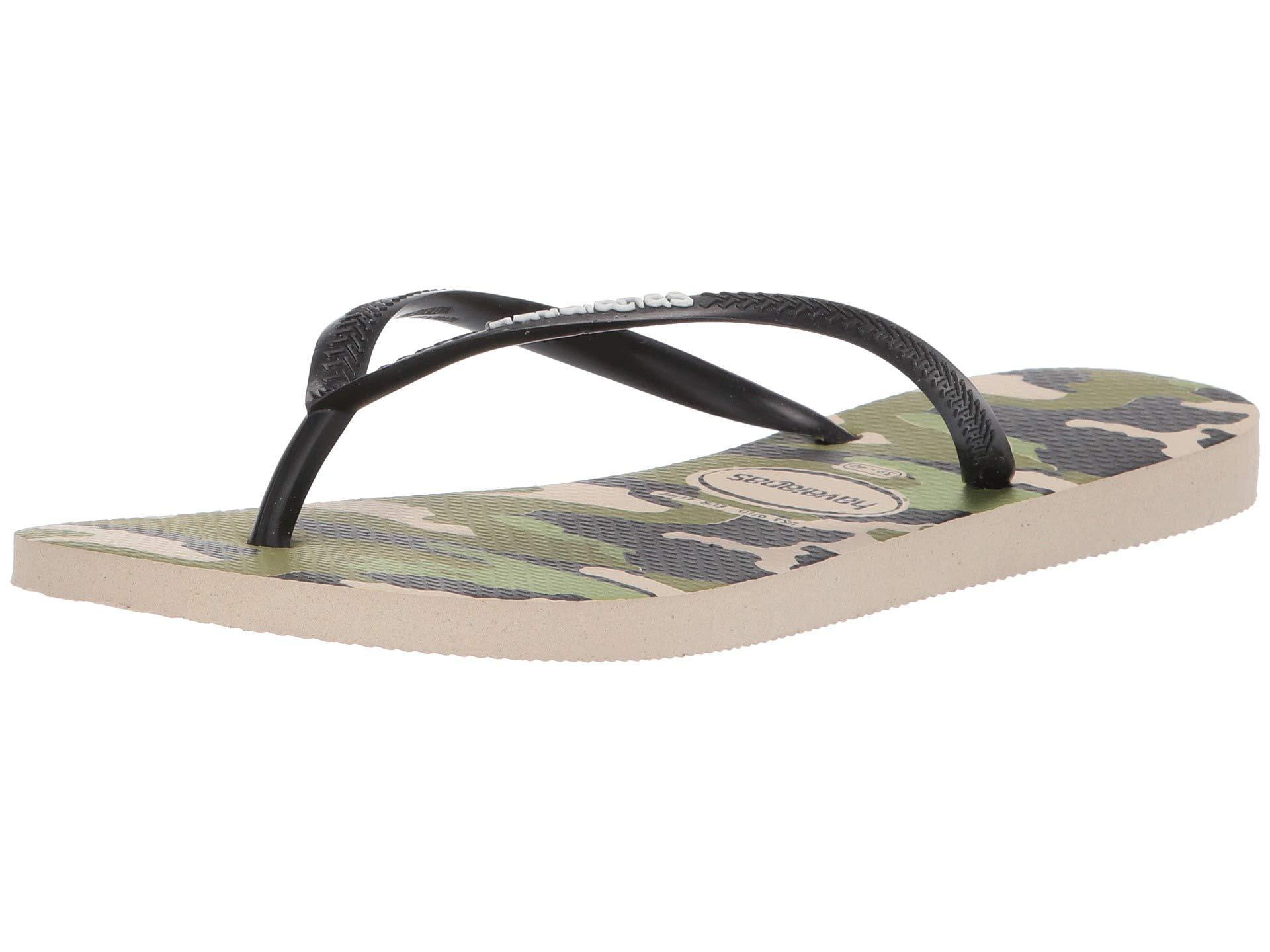 331c653286bdf Lyst - Havaianas Slim Camo Sandal (beige black) Women s Sandals in ...