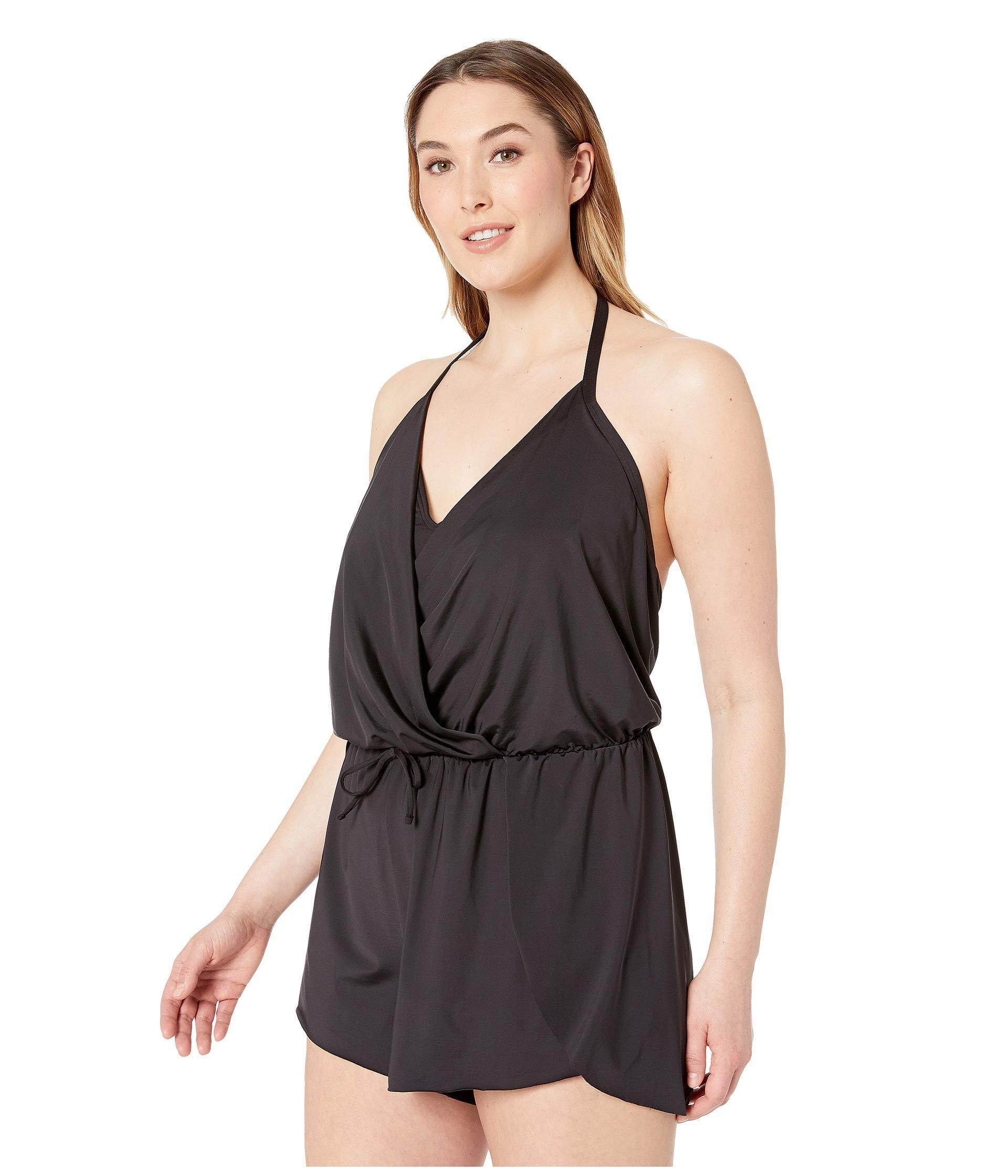 ee96c823e76 Lyst - Kenneth Cole Plus Size Ruffle-licious Romper Cover-up (black) Women s  Swimsuits One Piece in Black
