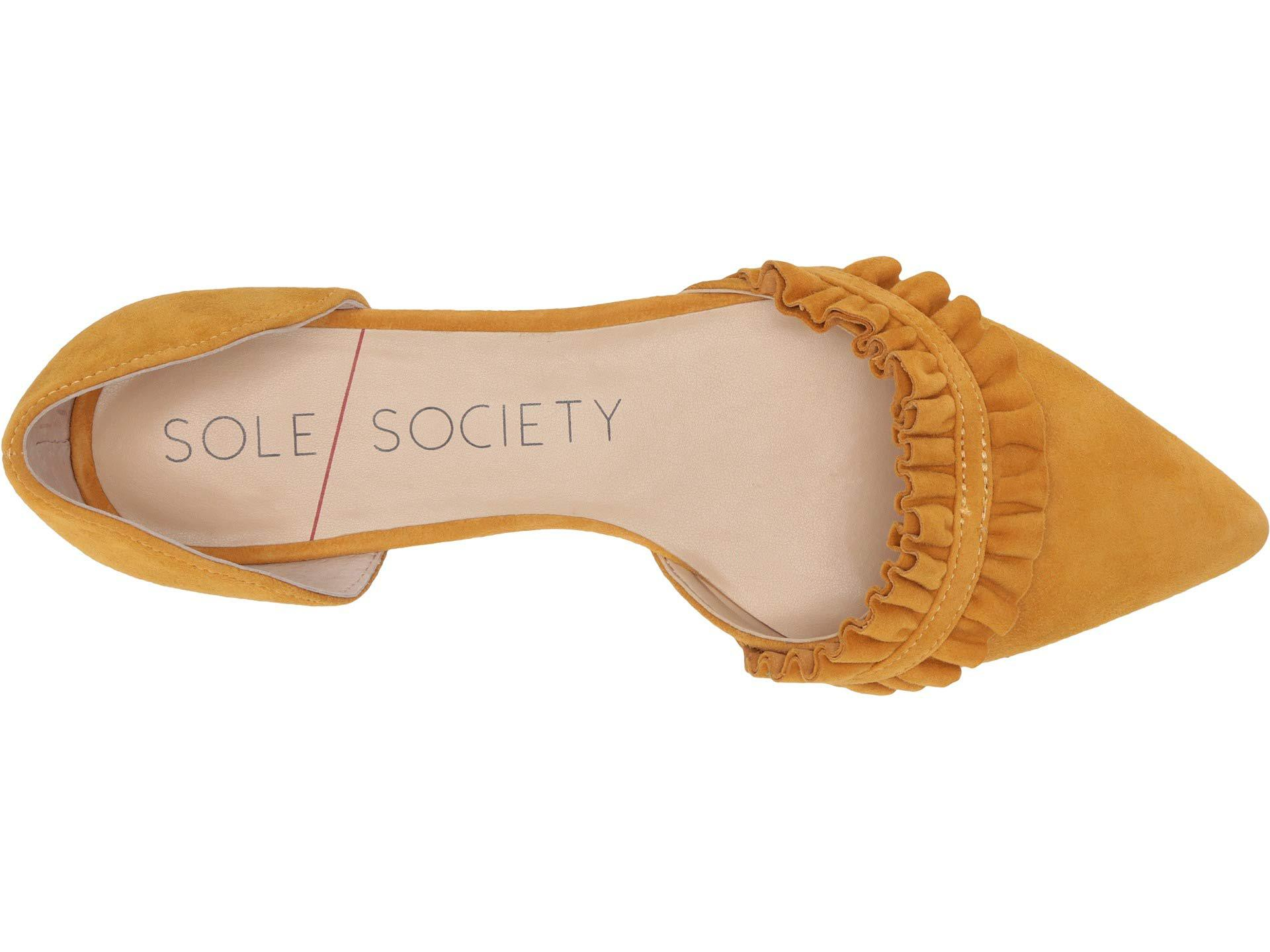 8852e4e90b92 Lyst - Sole Society Rosalind (mushroom Kid Suede) Women's Flat Shoes