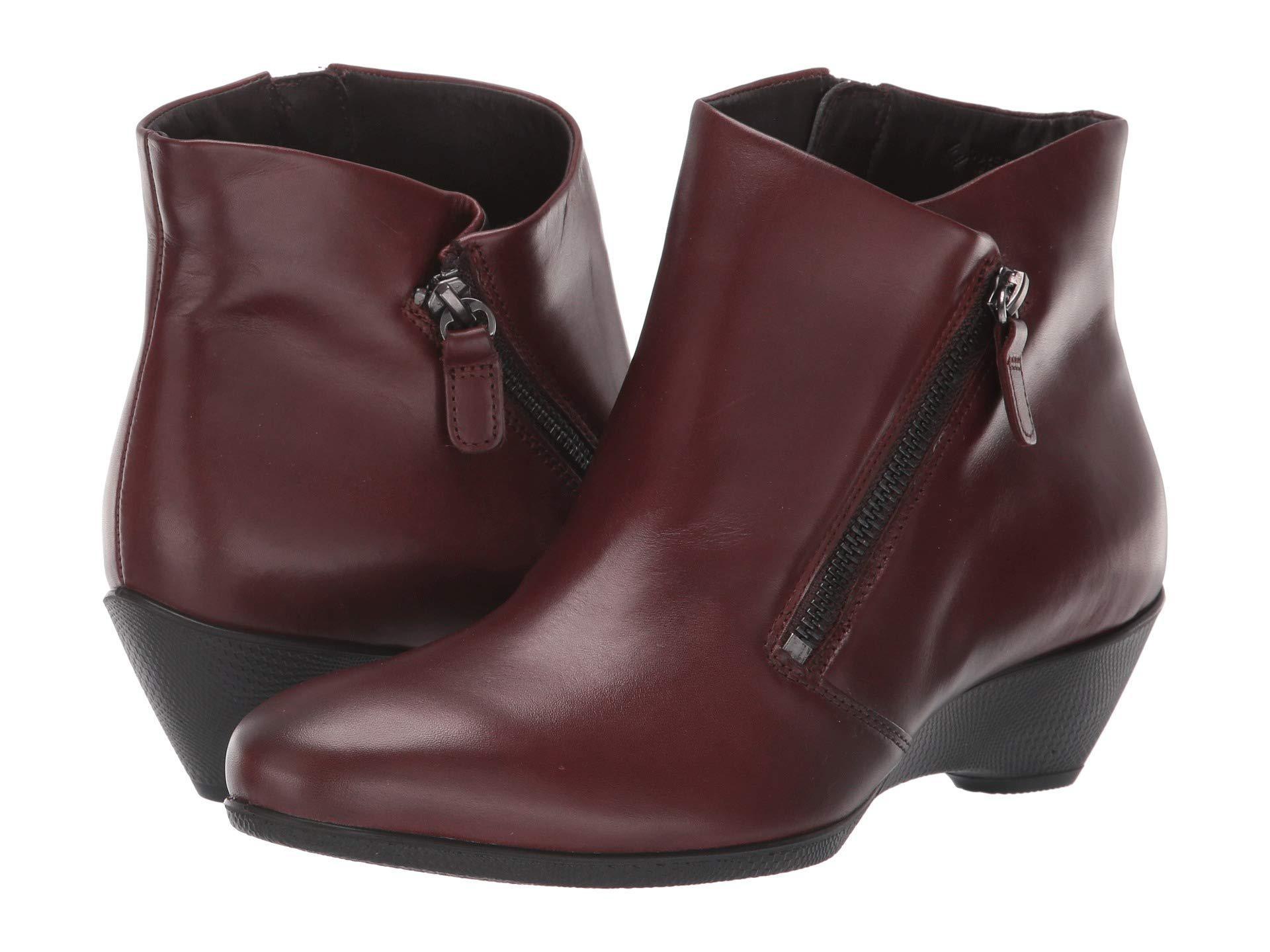 b2b5a0c513df8 Ecco - Multicolor Sculptured 45 Bootie W/ Zip (brandy Calf Leather) Women's  Boots