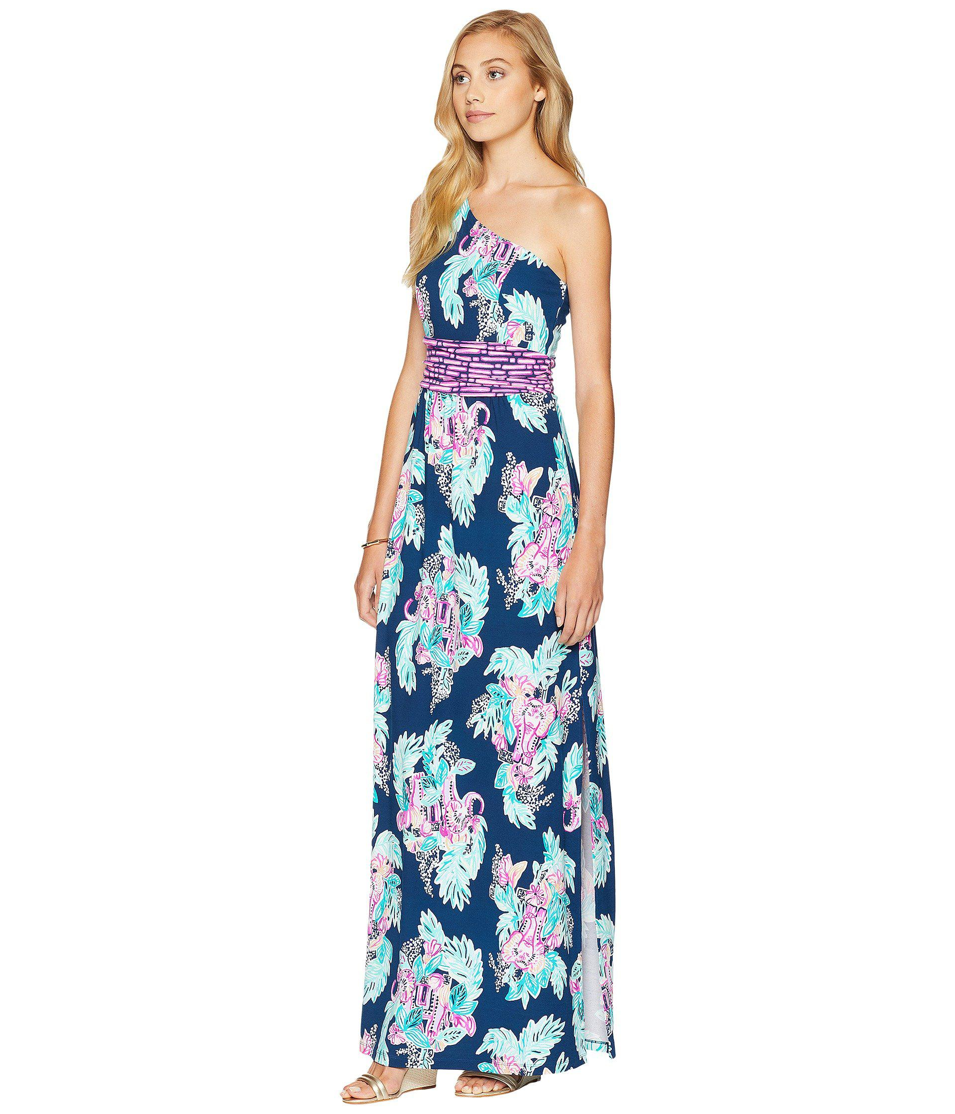 def67bcd10 Lilly Pulitzer Lilly Pulitzer Malia One-shoulder Maxi Dress in Blue ...