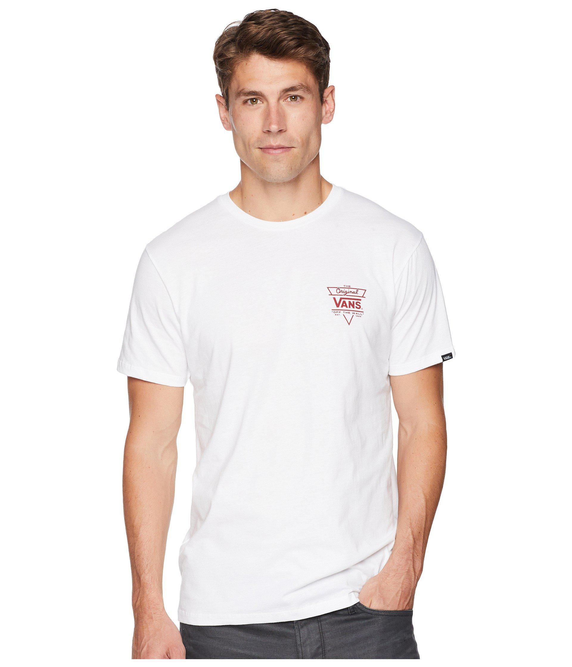 36dacb06ec Lyst - Vans Original Triangle T-shirt (white) Men's T Shirt in White ...
