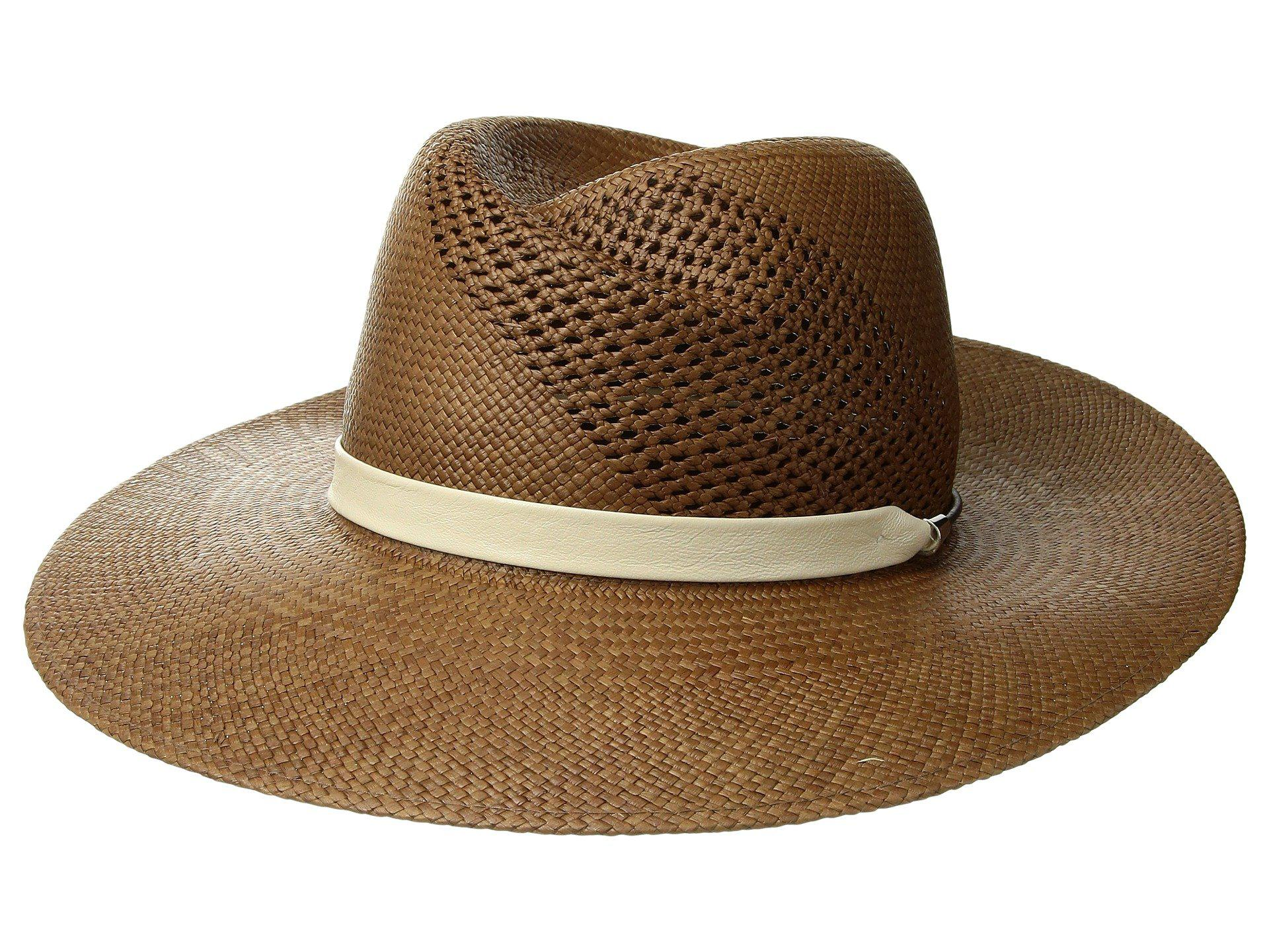 45f2bbf2db6221 Rag & Bone Zoe Straw Fedora (brown) Fedora Hats in Brown - Lyst
