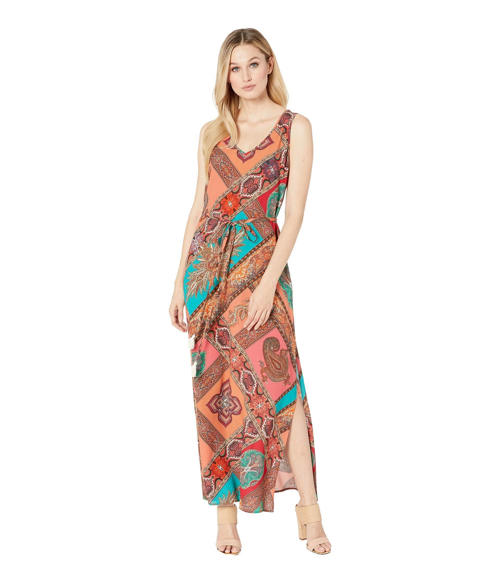 7b20d9618b6 Lyst - Karen Kane Side-slit Maxi Dress (print) Women s Clothing