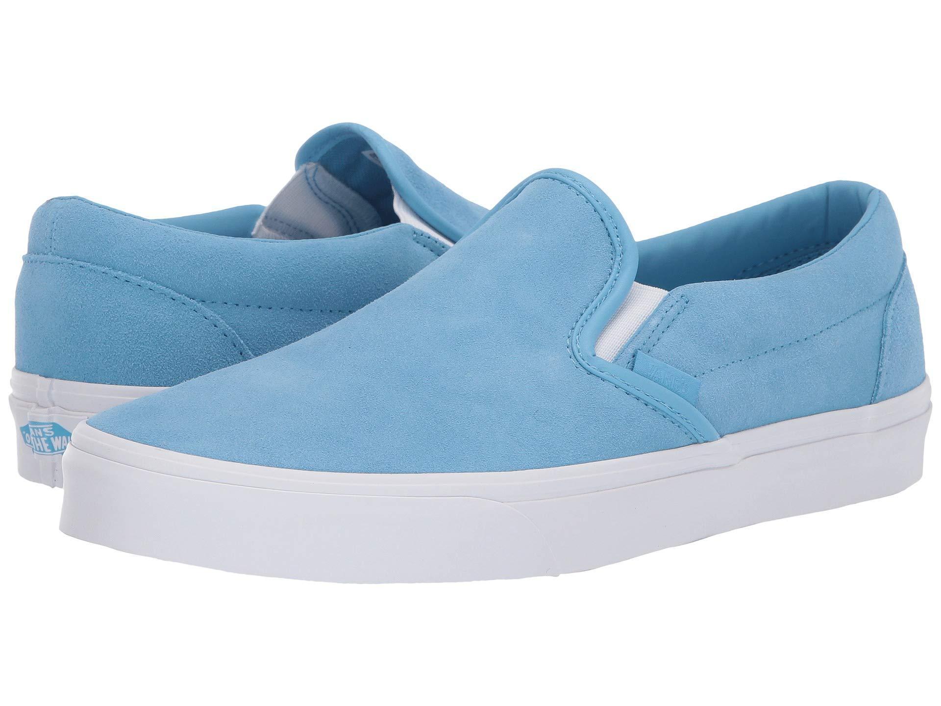 Vans. Men s Blue Classic Slip-ontm ((embossed Suede) Sequoia true White)  Skate Shoes 9827133780e