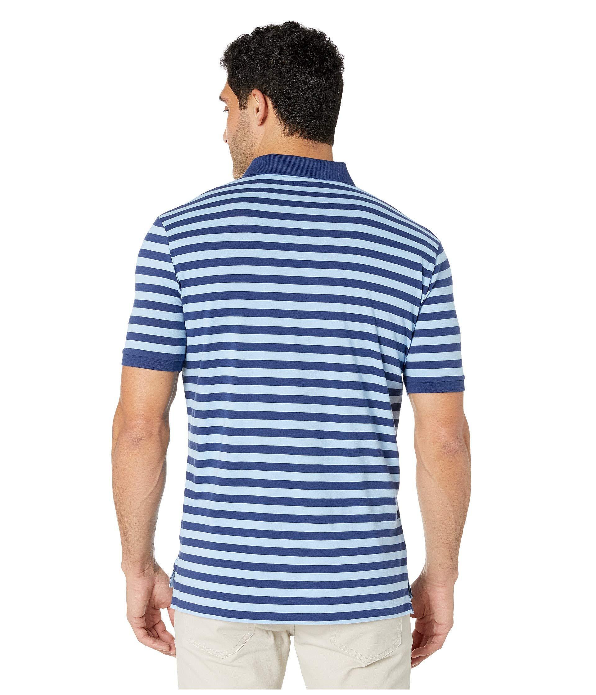 37f1043b090 Polo Ralph Lauren - Blue Classic Fit Striped Jersey Polo Shirt  (freshwater/garden Pink. View fullscreen