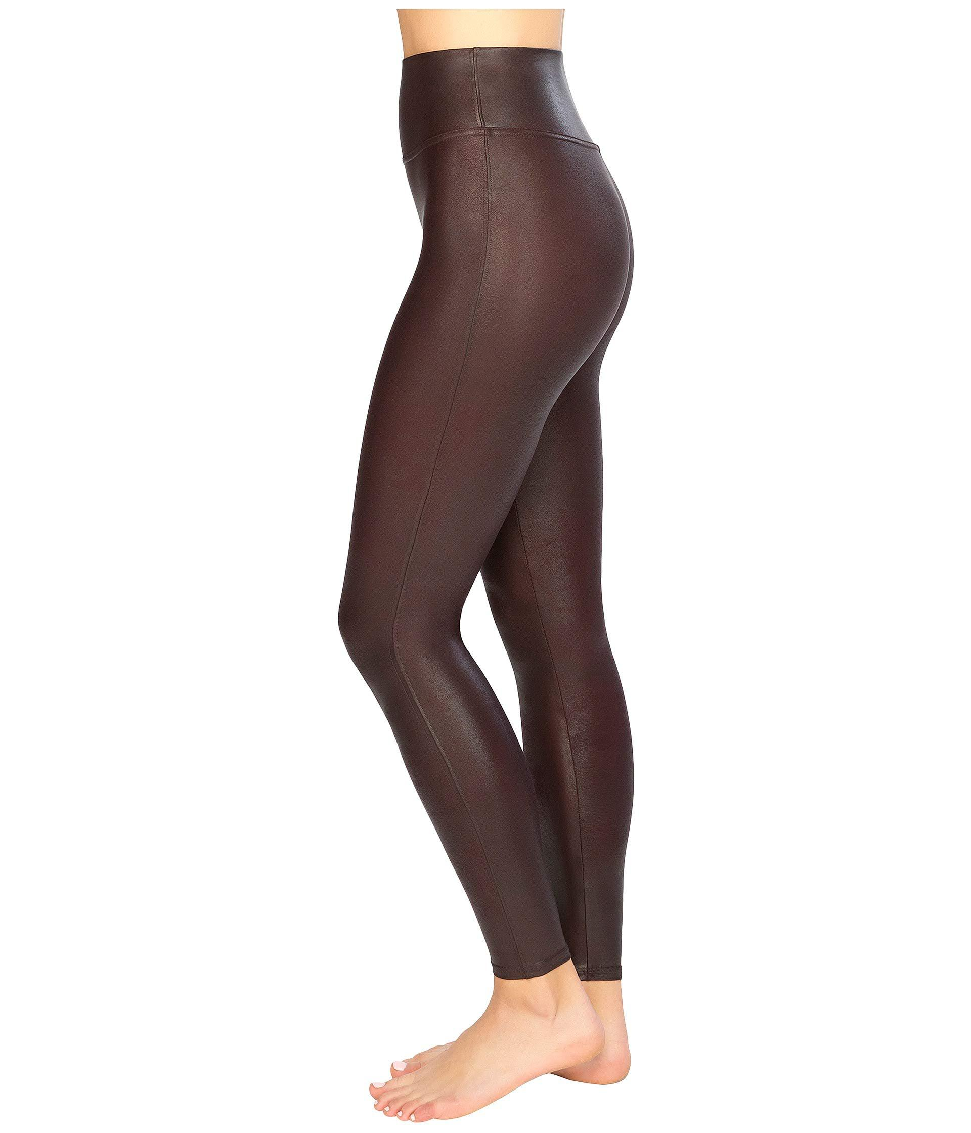 2f691f7a62c Lyst - Spanx Faux Leather Leggings (wine) Women s Casual Pants - Save 30%