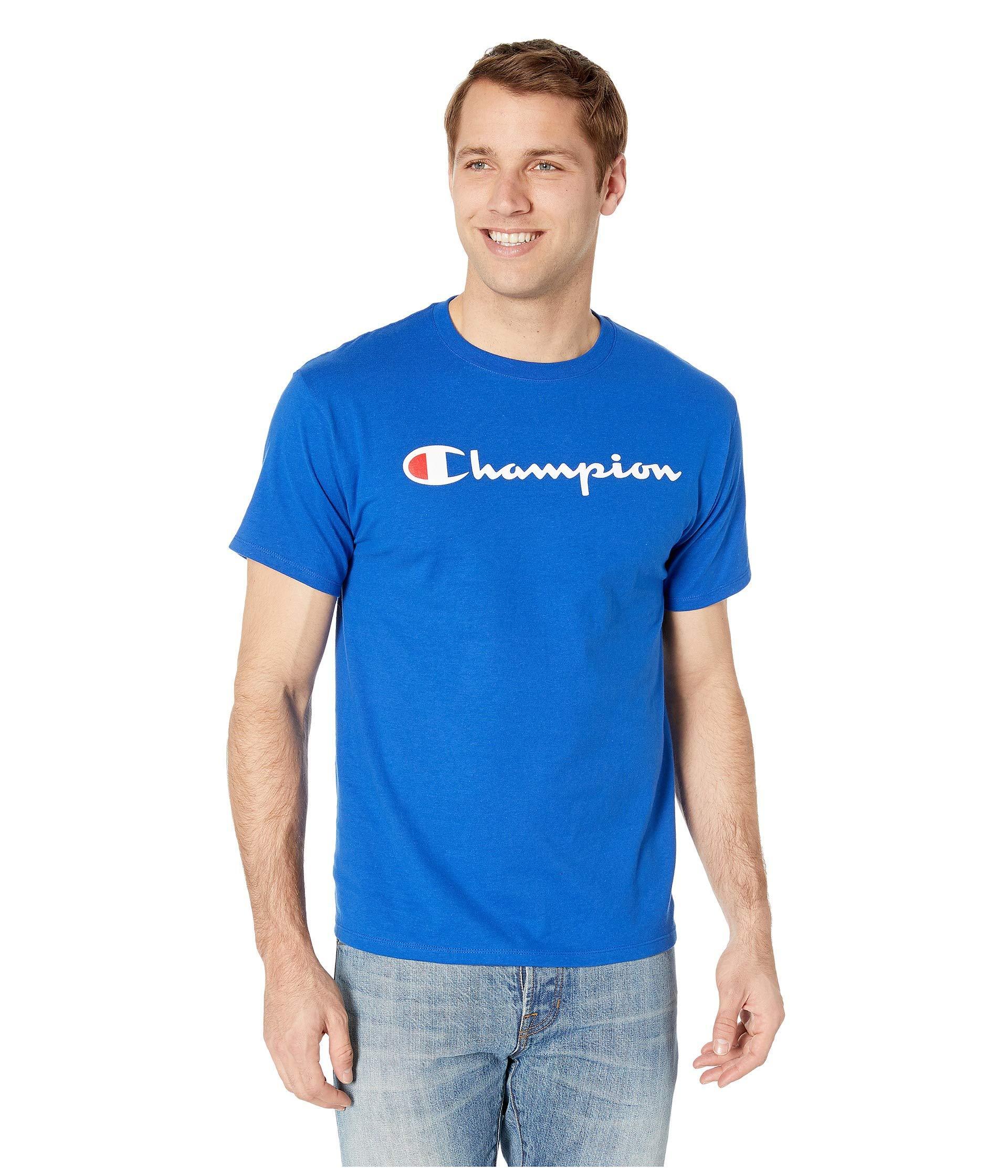 be877c5e Champion - Blue Classic Jersey Graphic Tee (black) Men's T Shirt for Men -.  View fullscreen