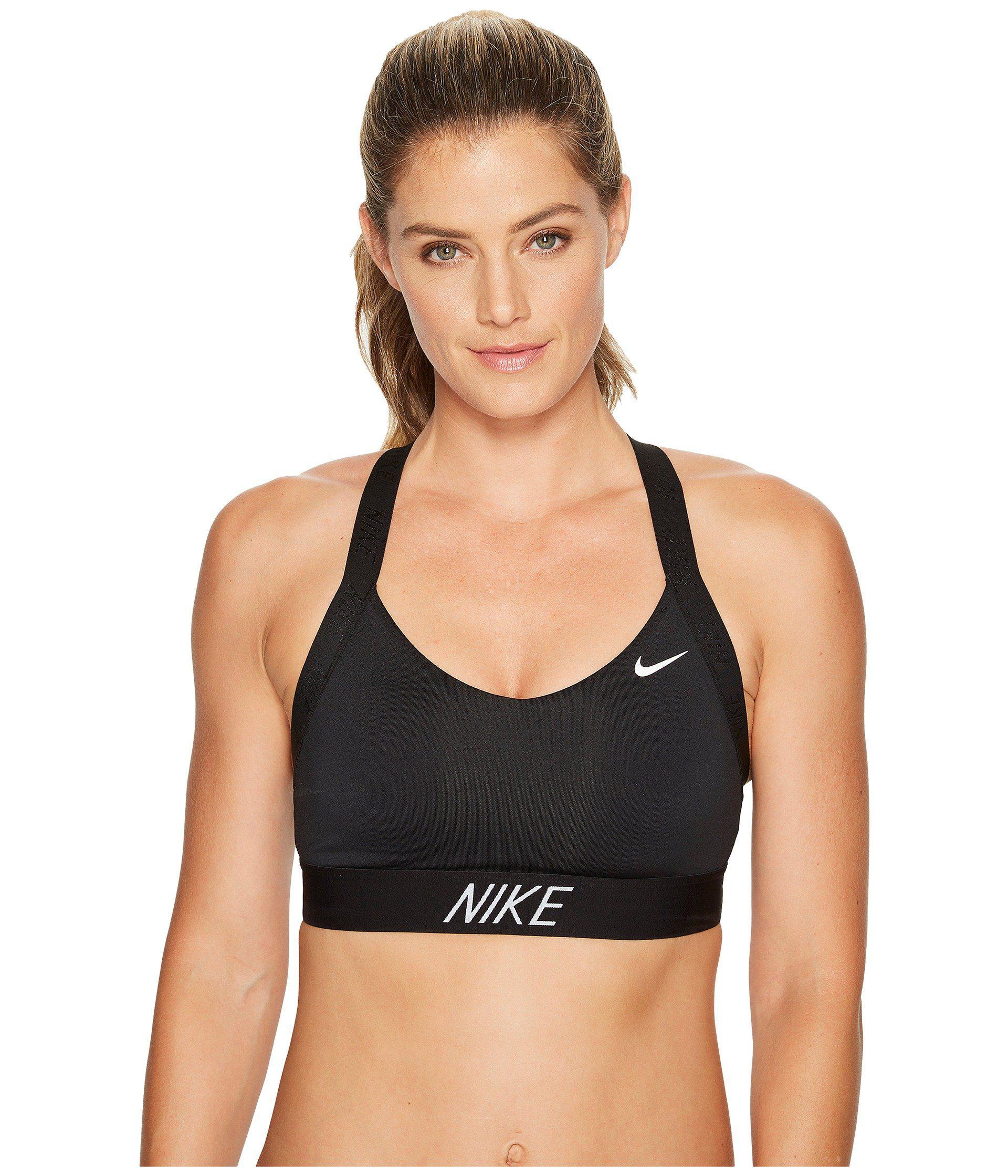db65d5c4bf ... Nike - Black Pro Indy Logo Back Sports Bra (whitepure Platinumcool.