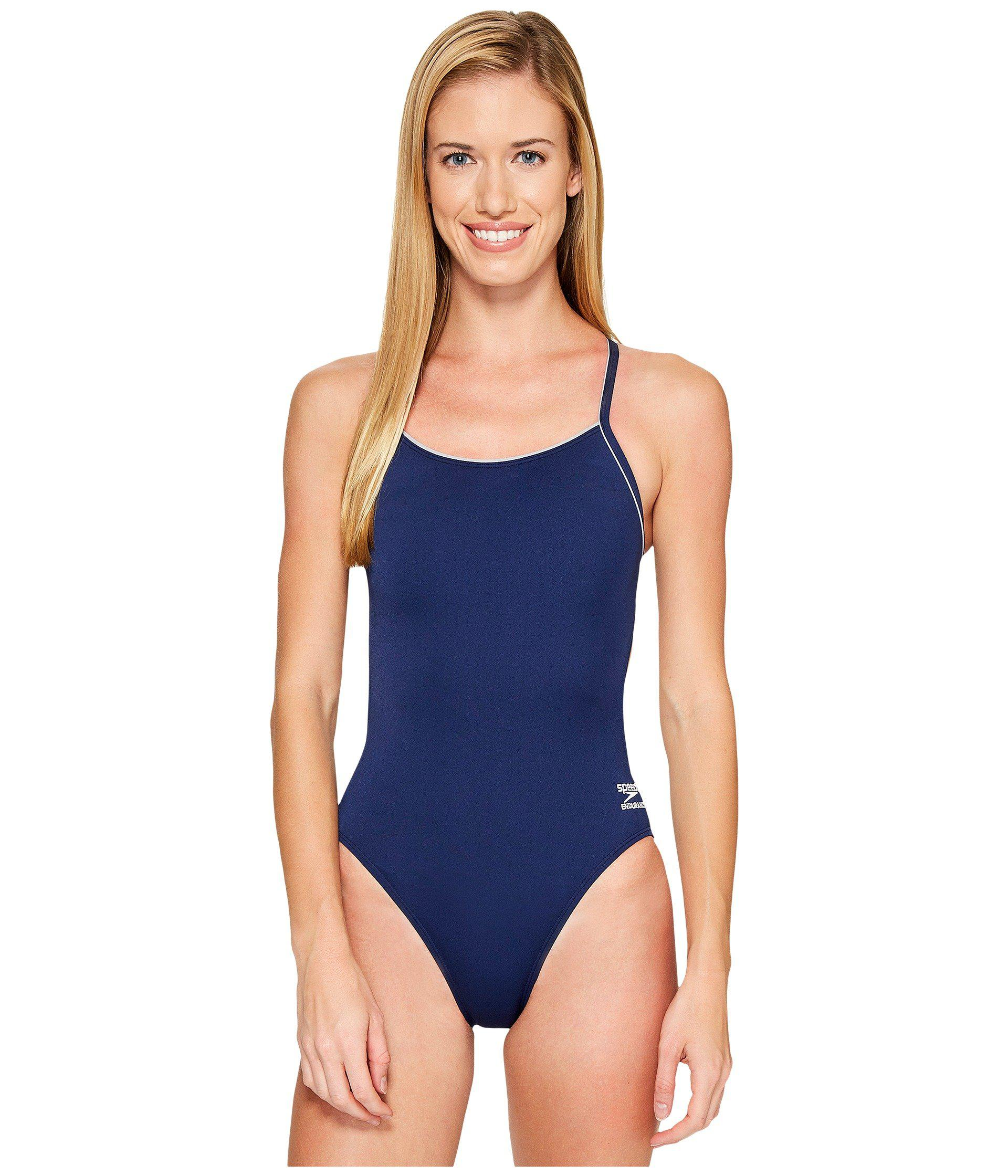 31a87c26970e3 Lyst - Speedo Solid (r) Endurance + Thin Strap (natical Navy ...