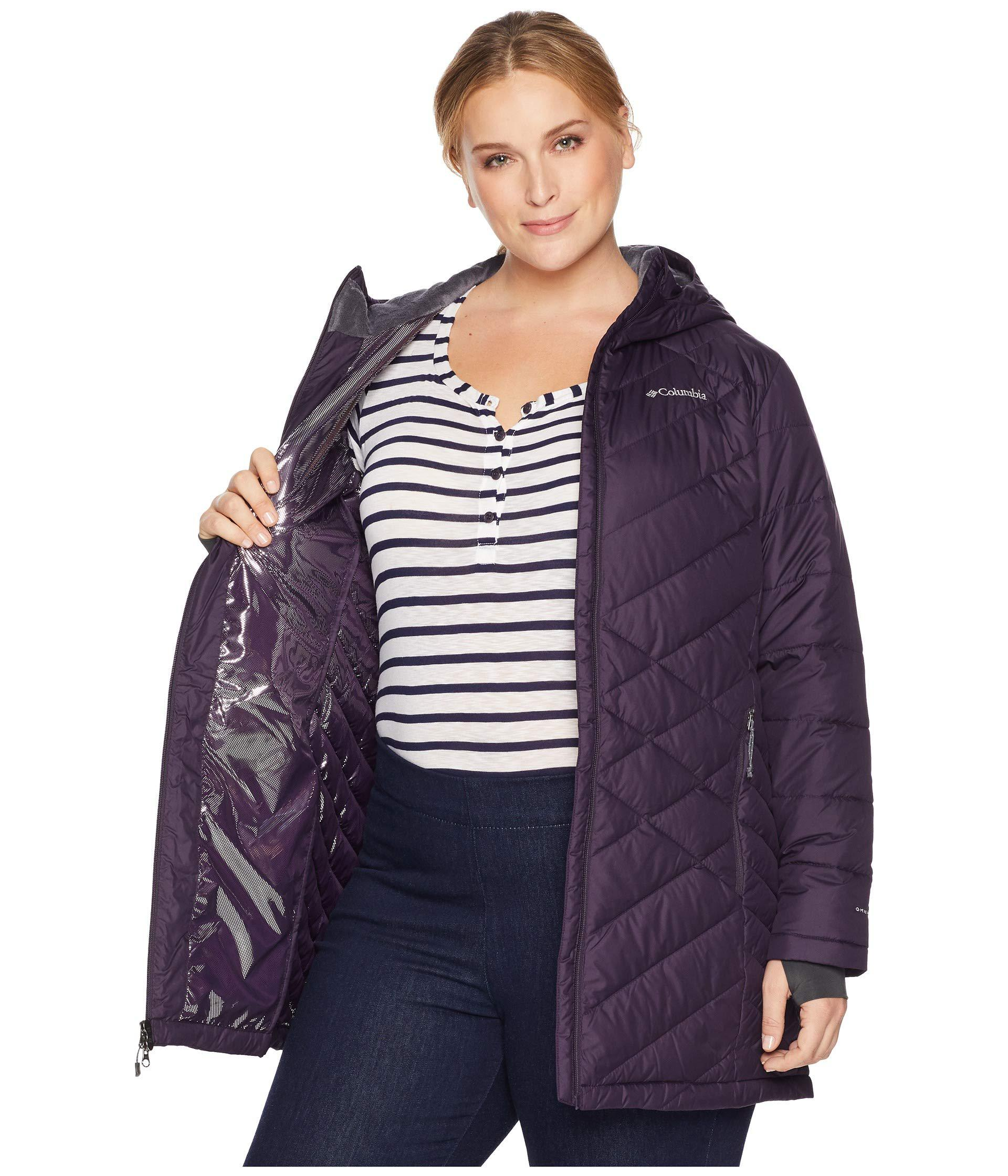 e89efb243a5 Lyst - Columbia Plus Size Heavenly Long Hooded Jacket (nocturnal ...