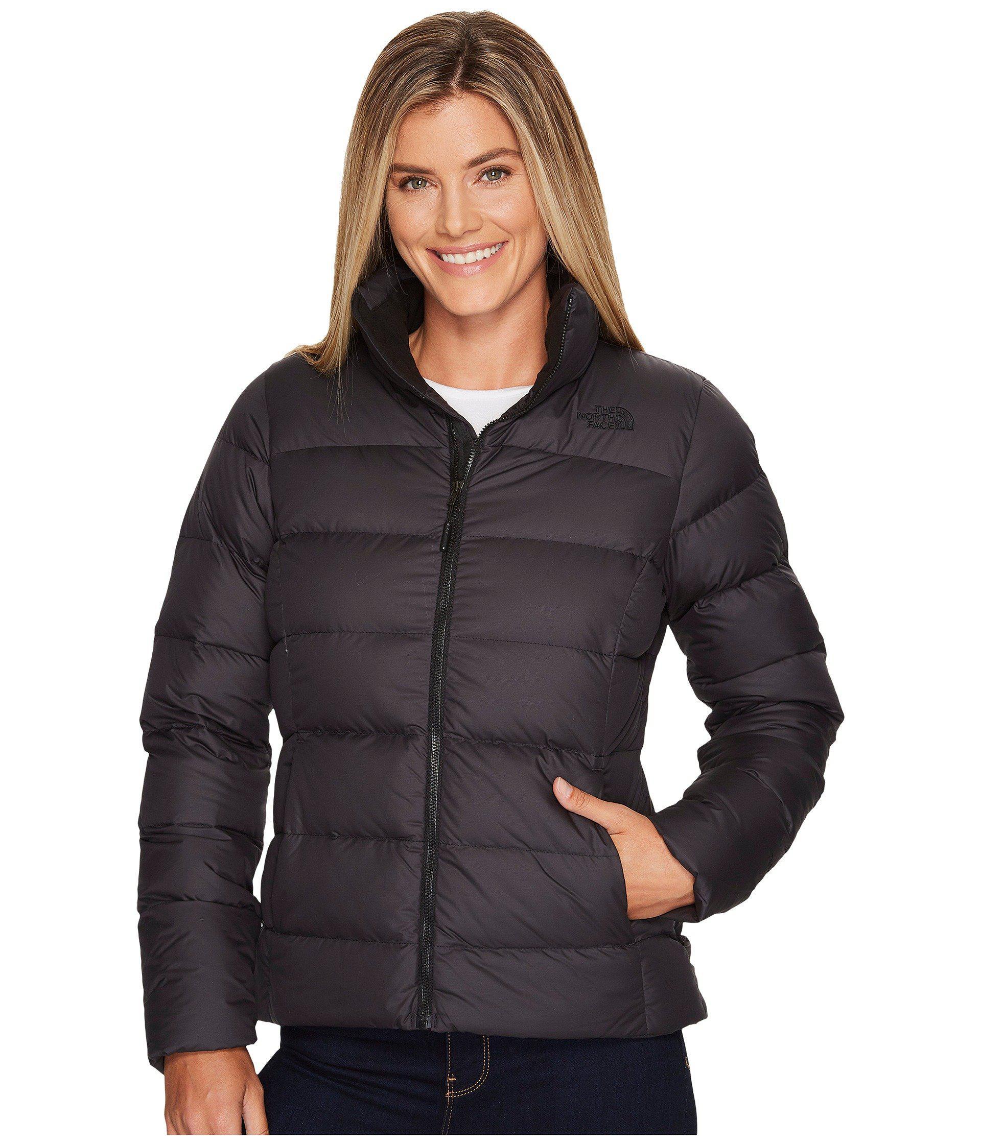 bb20ba0b75 Lyst - The North Face Nuptse Jacket (mid Grey tnf Black) Women s ...