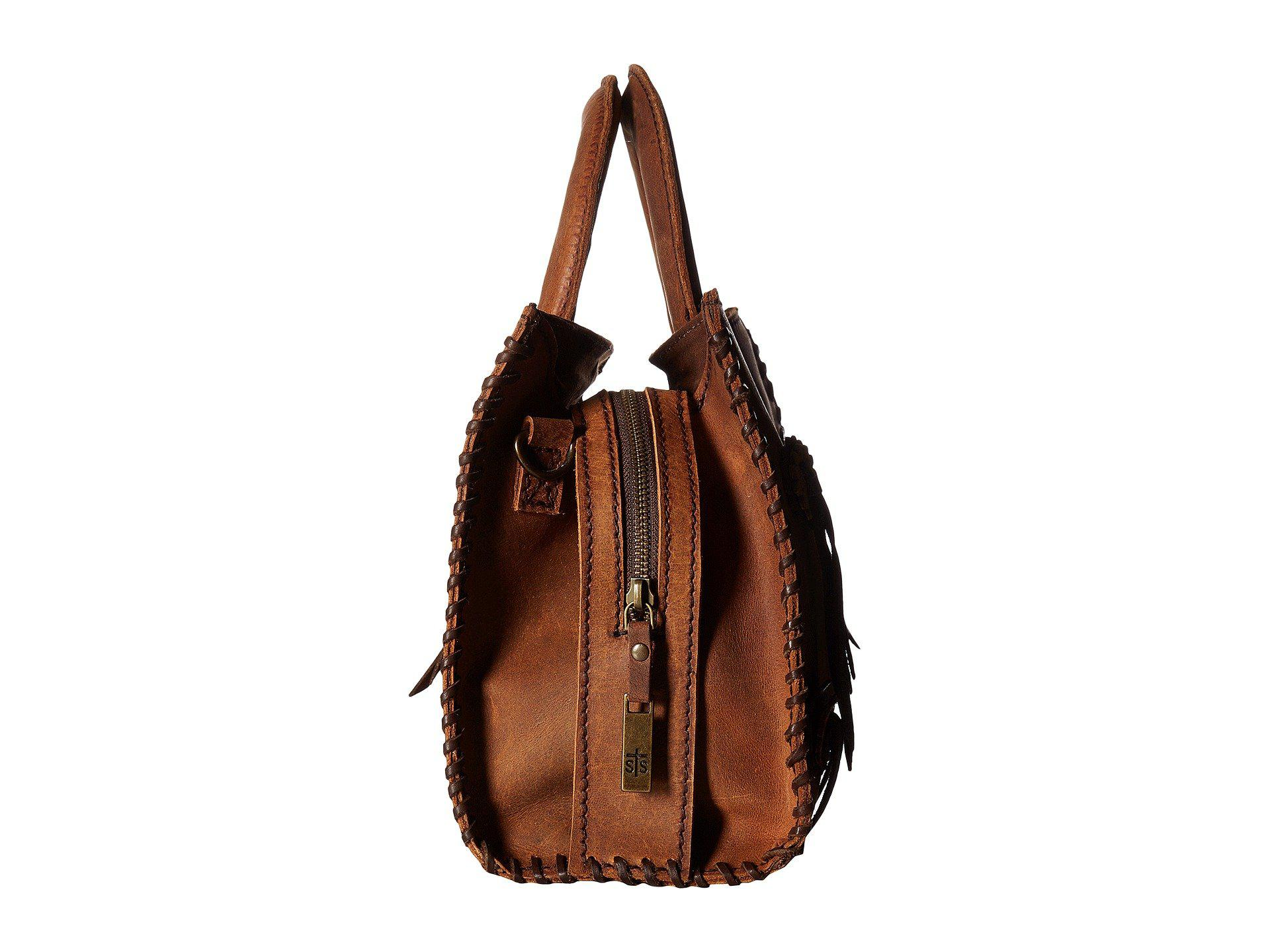 StS Ranchwear Small Chaps Satchel (Brown) Satchel Handbags Q4kADEL58