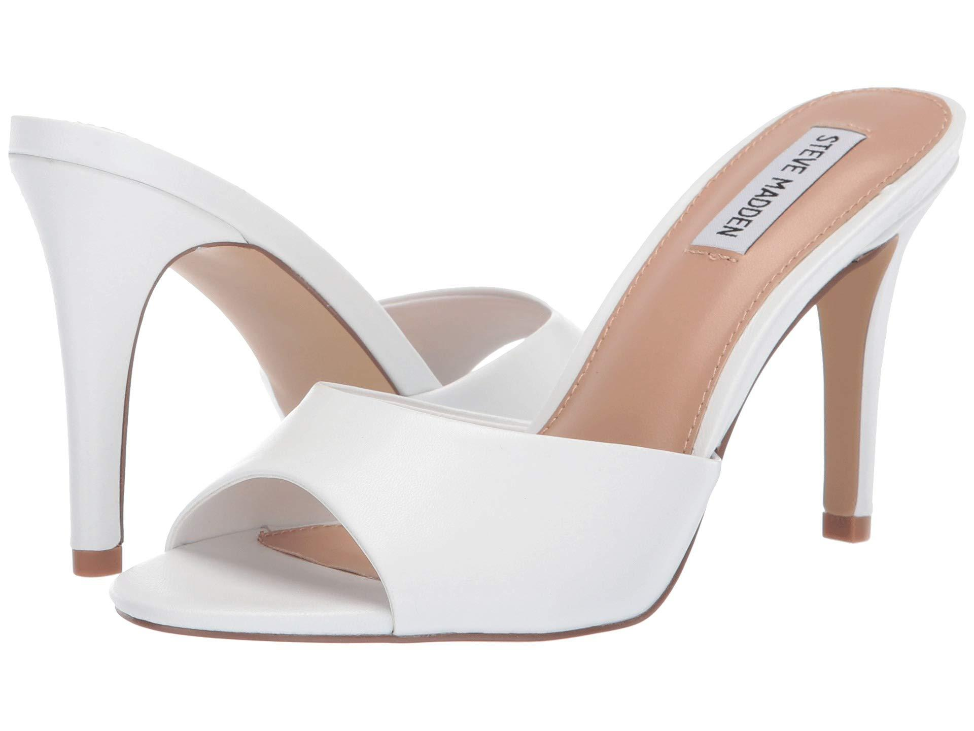 c0ef3f8e25c Lyst - Steve Madden Erin Heeled Mule (yellow Neon) High Heels in White
