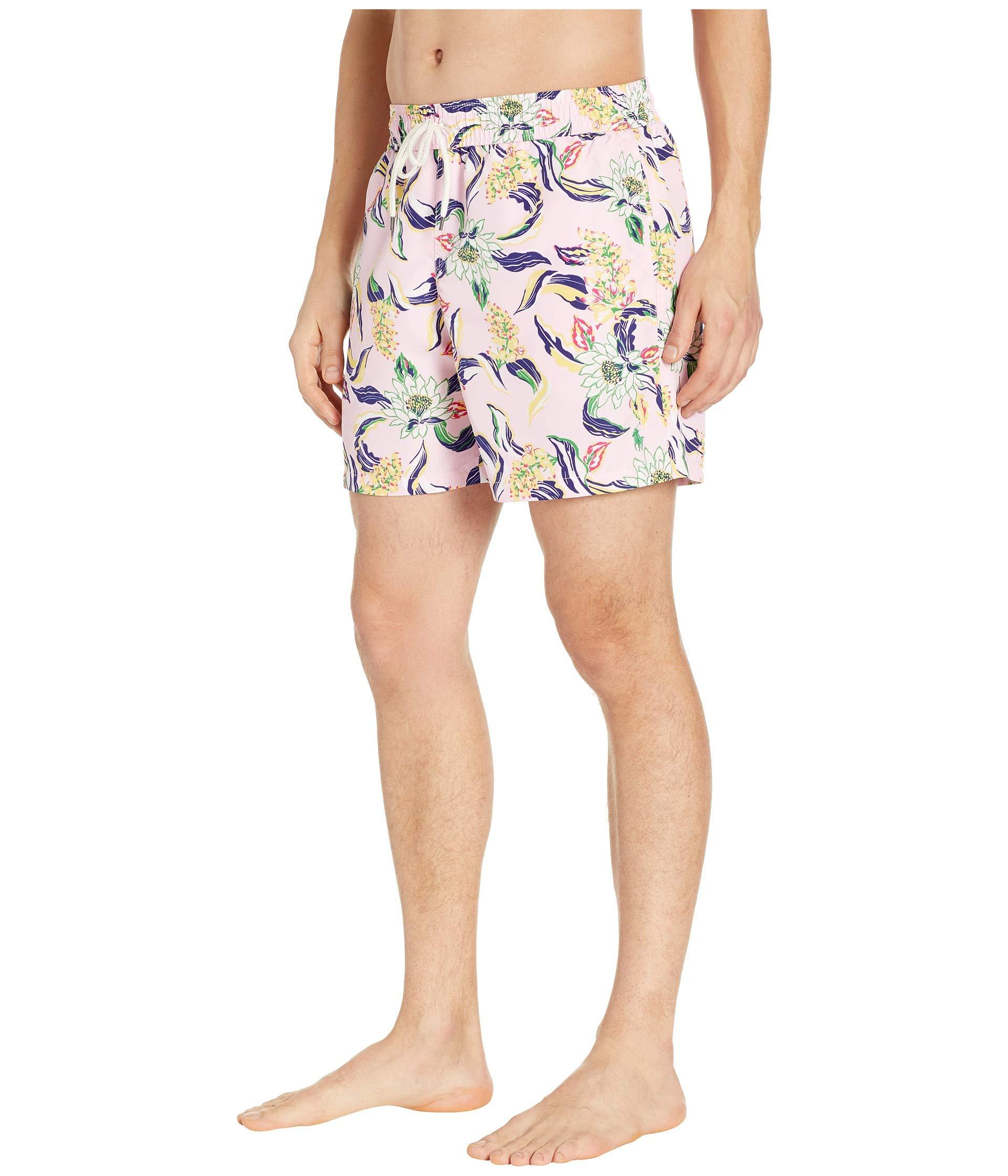 19d58d097a Lyst - Polo Ralph Lauren Traveler Swim Trunks (lotus Paradise) Men's  Swimwear for Men