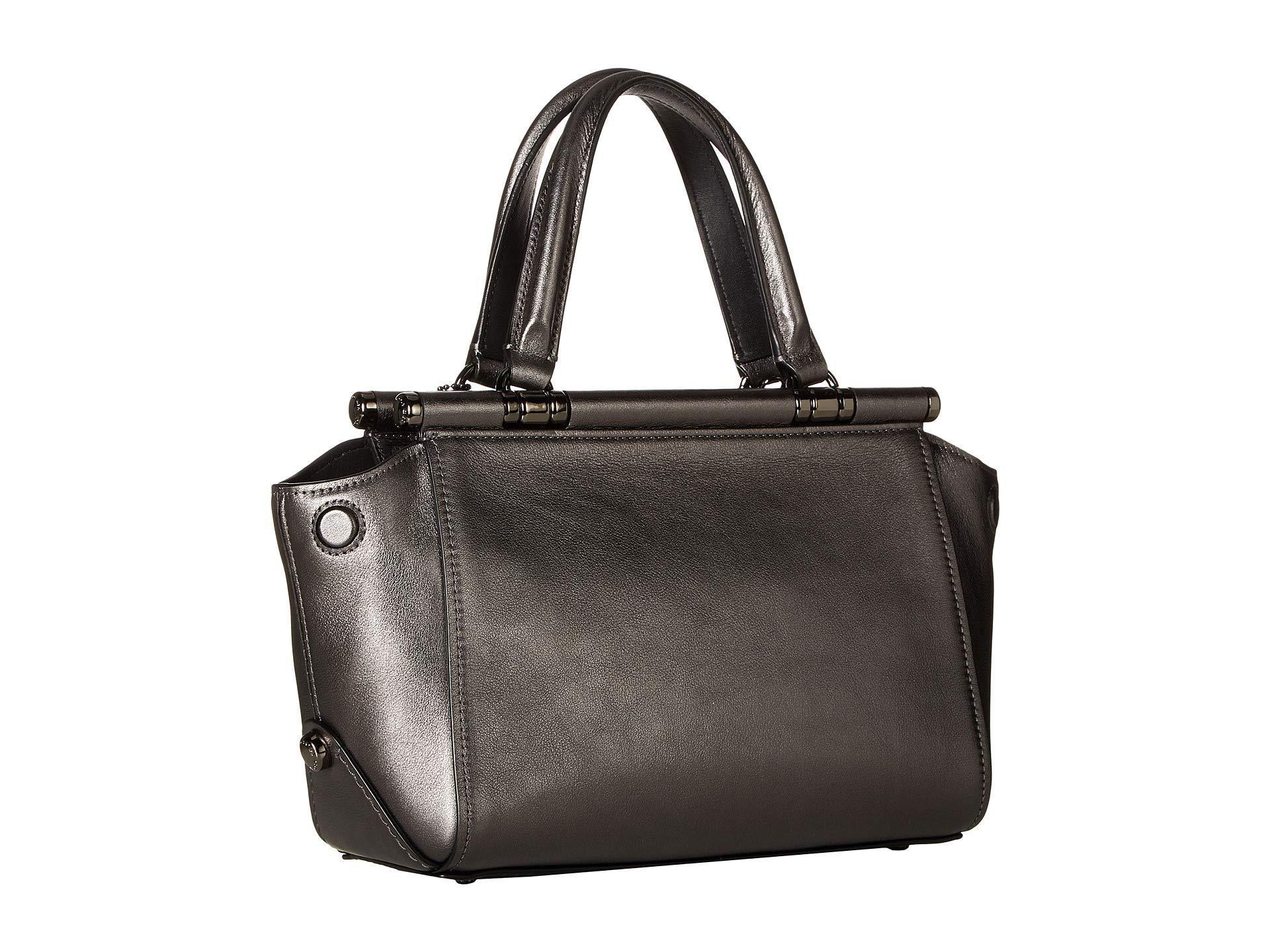 2948b460da0e COACH - Grace 20 Bag In Metallic Leather (dk metallic Graphite) Bags -.  View fullscreen