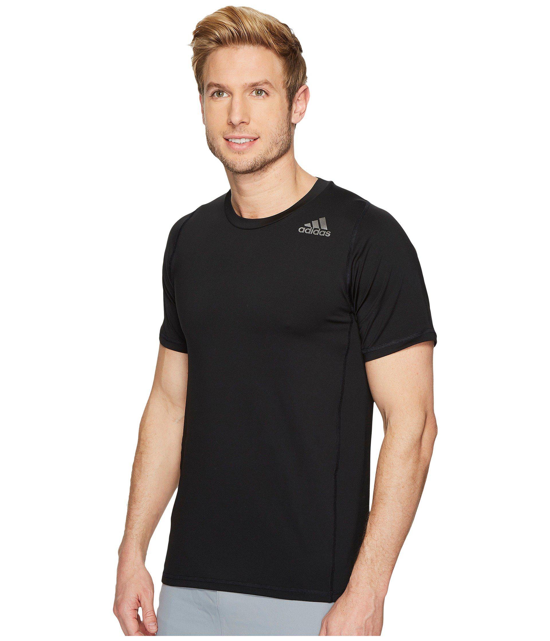 cab8c99d6 Adidas - Black Alphaskin Sport Fitted Short Sleeve Tee for Men - Lyst. View  fullscreen