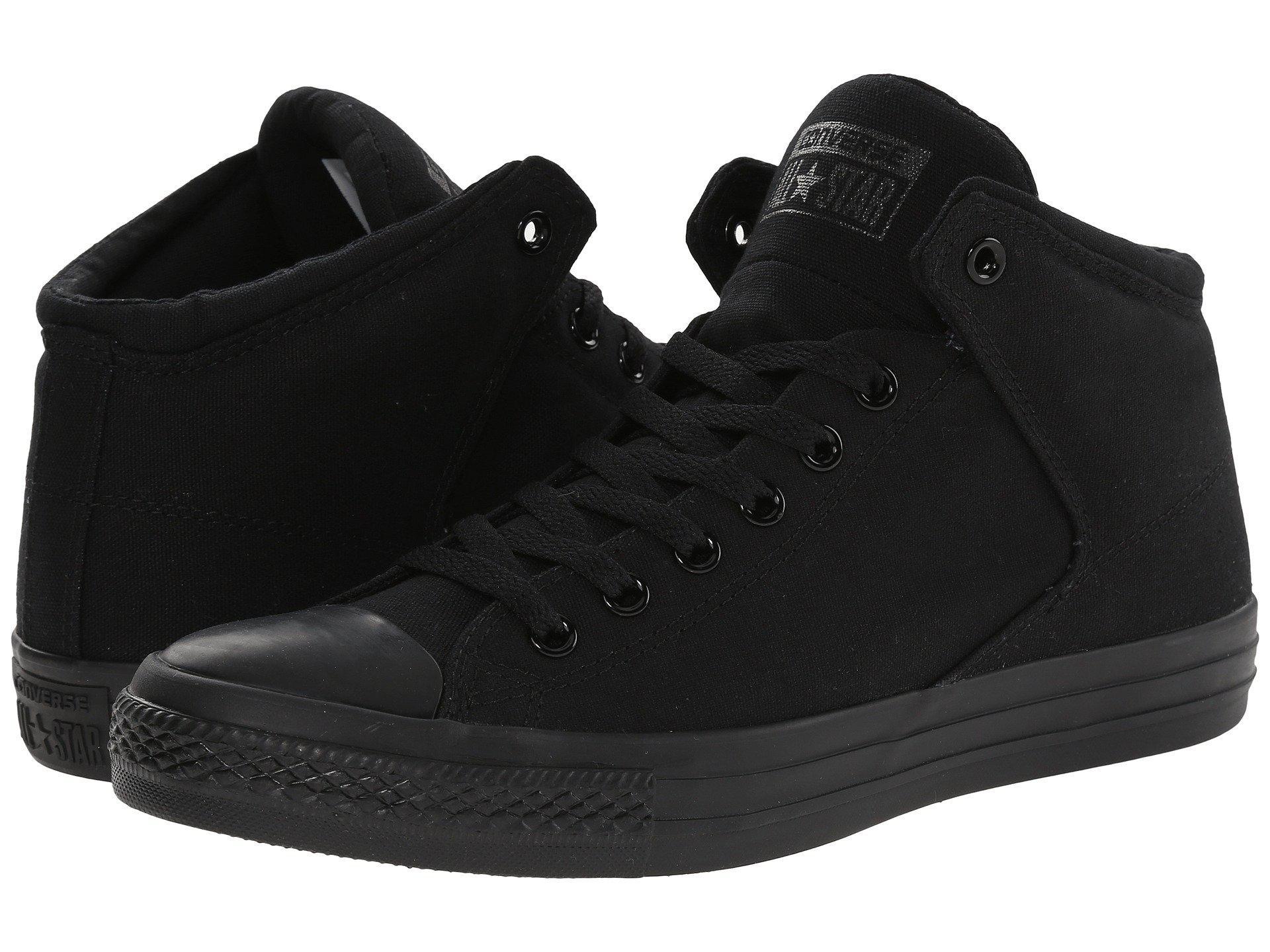 ef1c9023d535 Converse. Women s Chuck Taylor(r) All Star(r) High Street Mono Canvas Hi ( black black black) Lace Up Casual Shoes