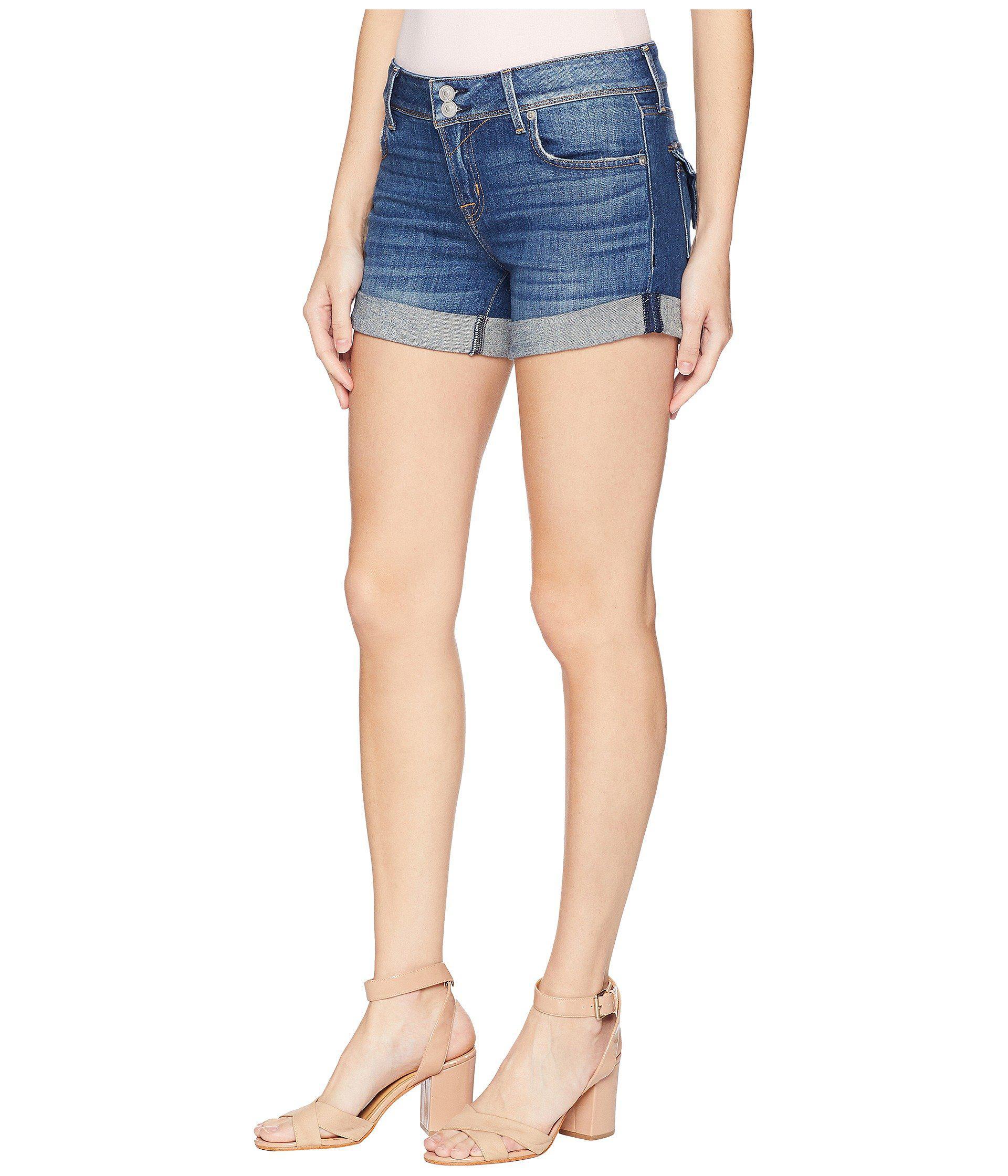 2401de56b9 Hudson Jeans Croxley Mid Thigh Shorts In Ramona (ramona) Women's Shorts in  Blue - Lyst