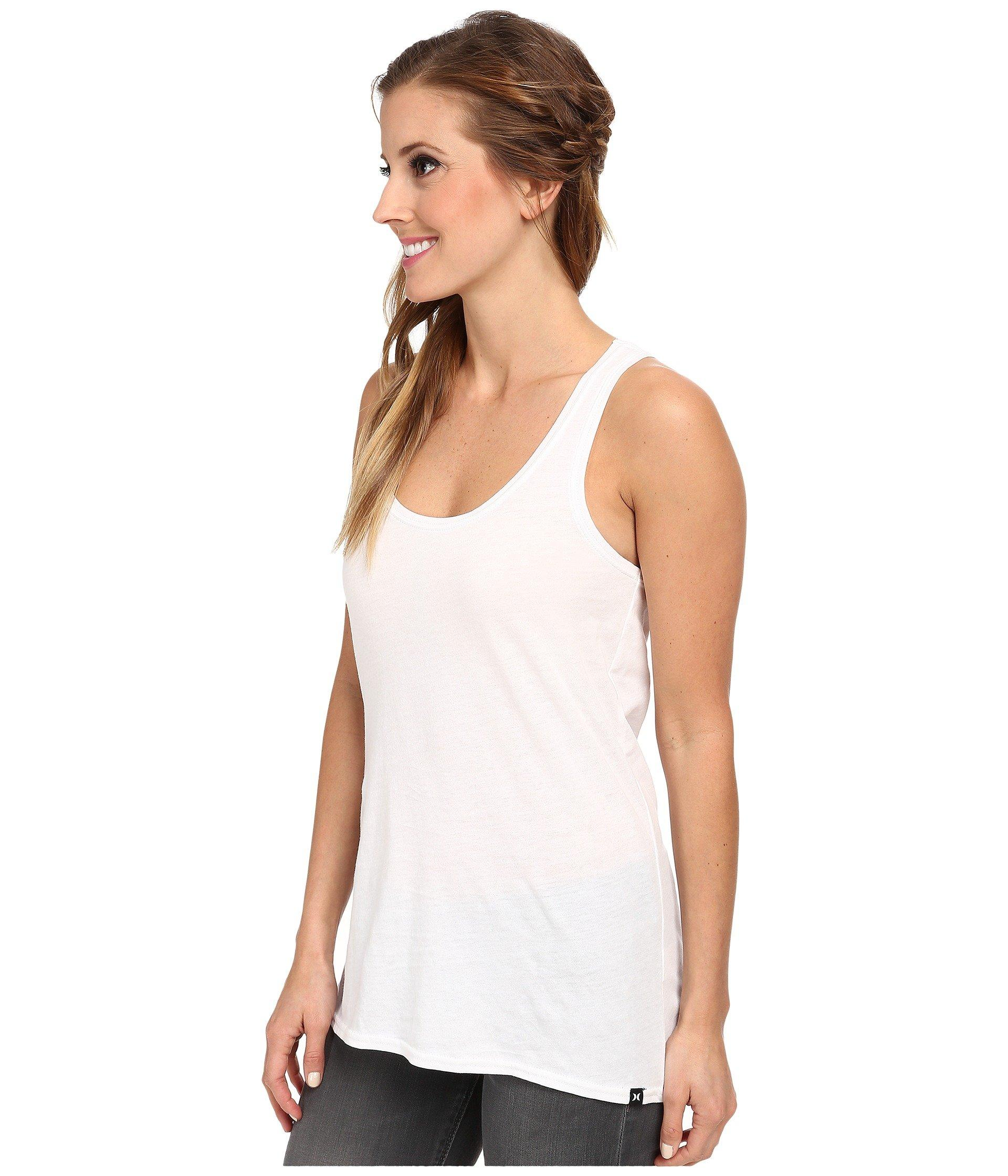 d0faa39f47a39 Lyst - Hurley Solid Perfect Tank Top (black) Women s Sleeveless in White
