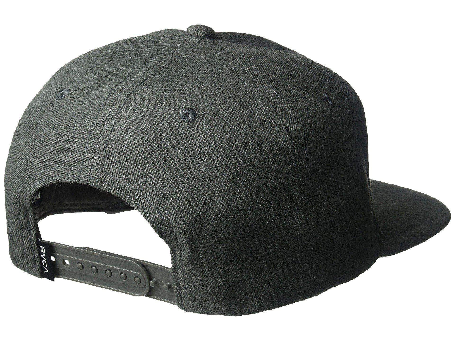 detailed look c0e61 0e870 ... norway lyst rvca ensign snapback black caps in black for men d8e8f c5fcd