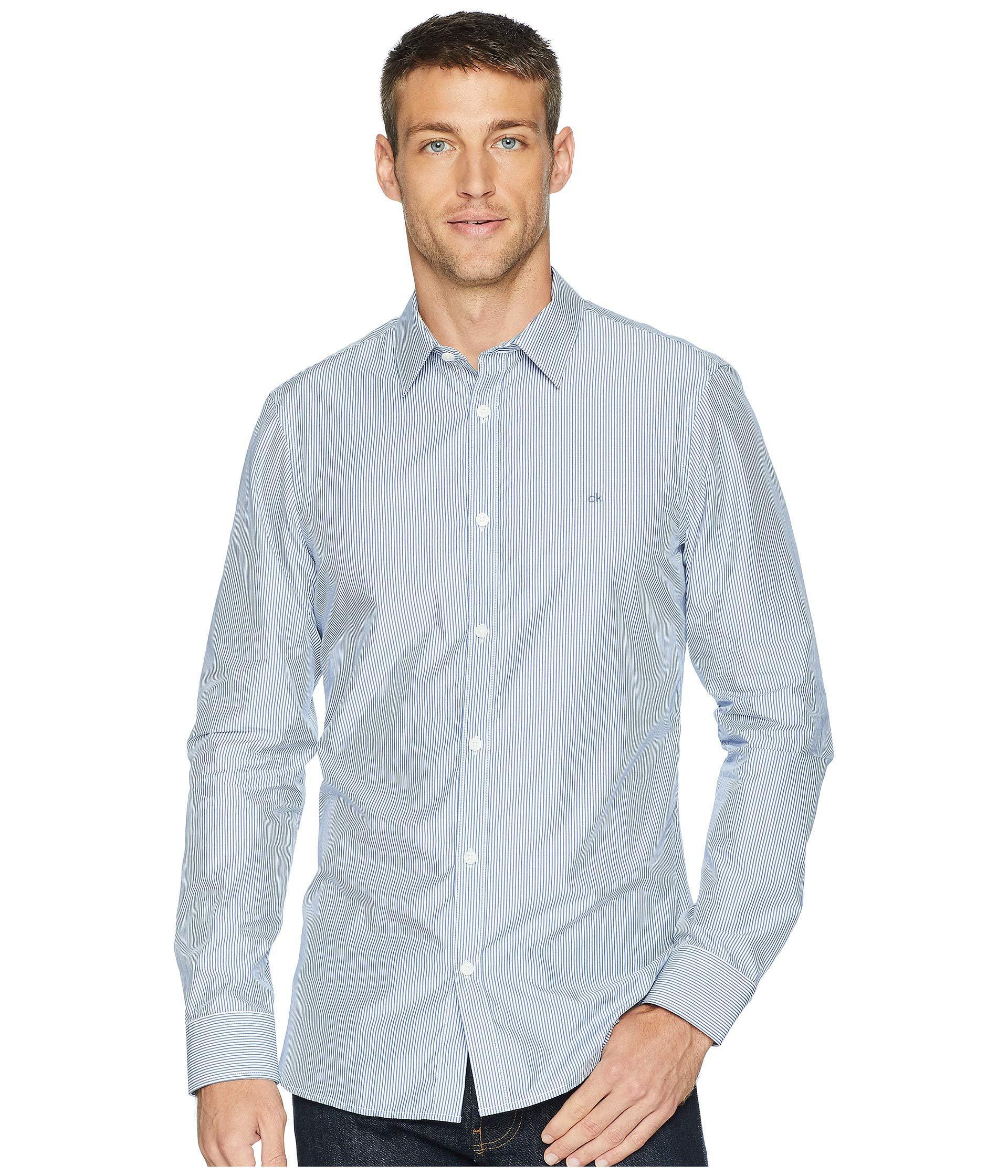9bebd080da8 Lyst - Calvin Klein The Extra-fine Cotton Shirt (black) Men s ...