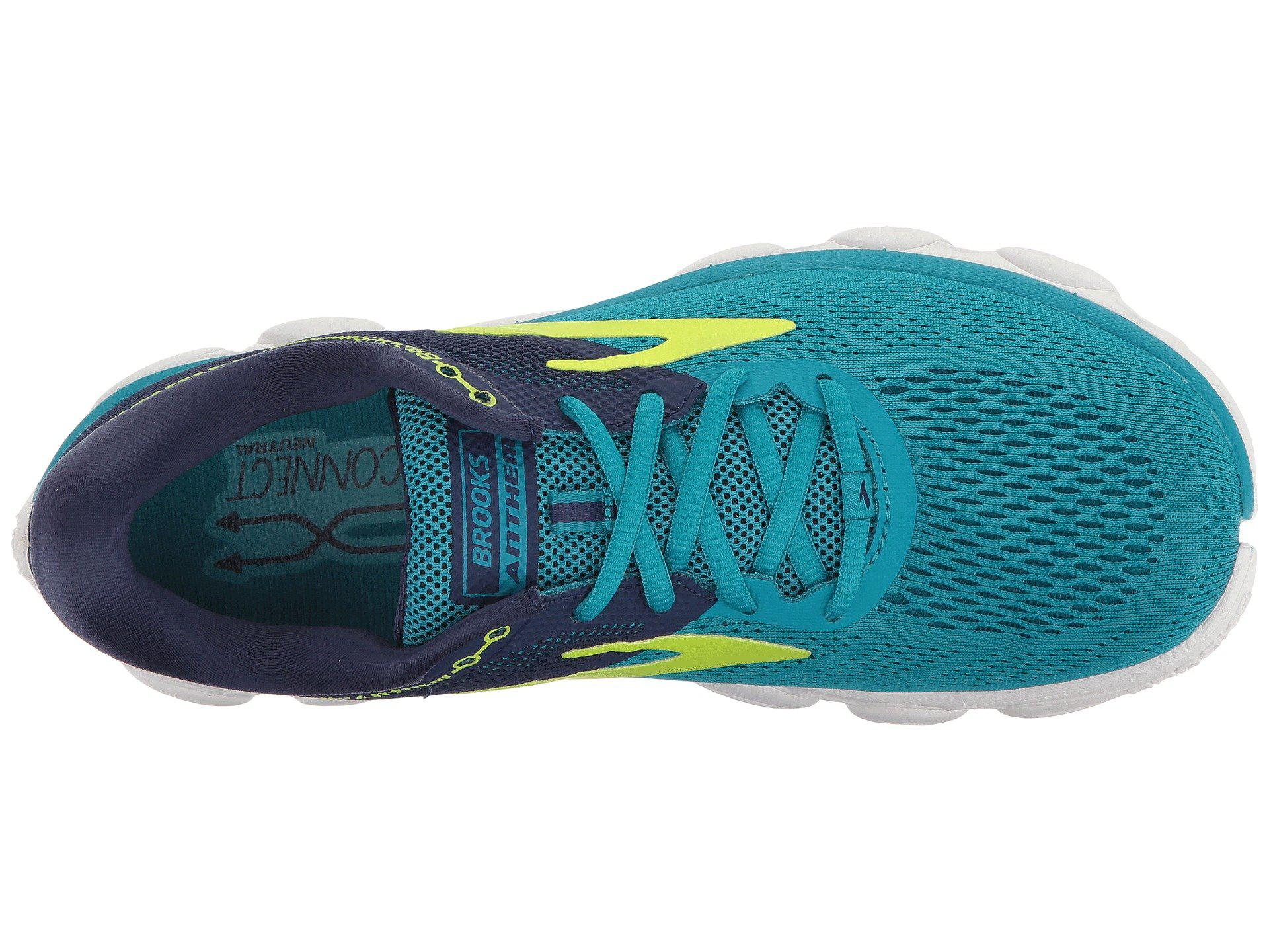 c4ba271bbc7 Lyst - Brooks Anthem (blue navy lime) Women s Running Shoes in Blue
