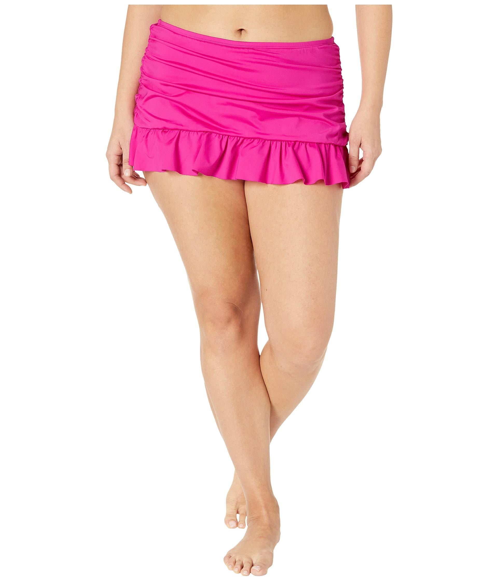 b8106529f6d42 Kenneth Cole Plus Size Ruffle-licious Ruched Skirt (passionfruit ...