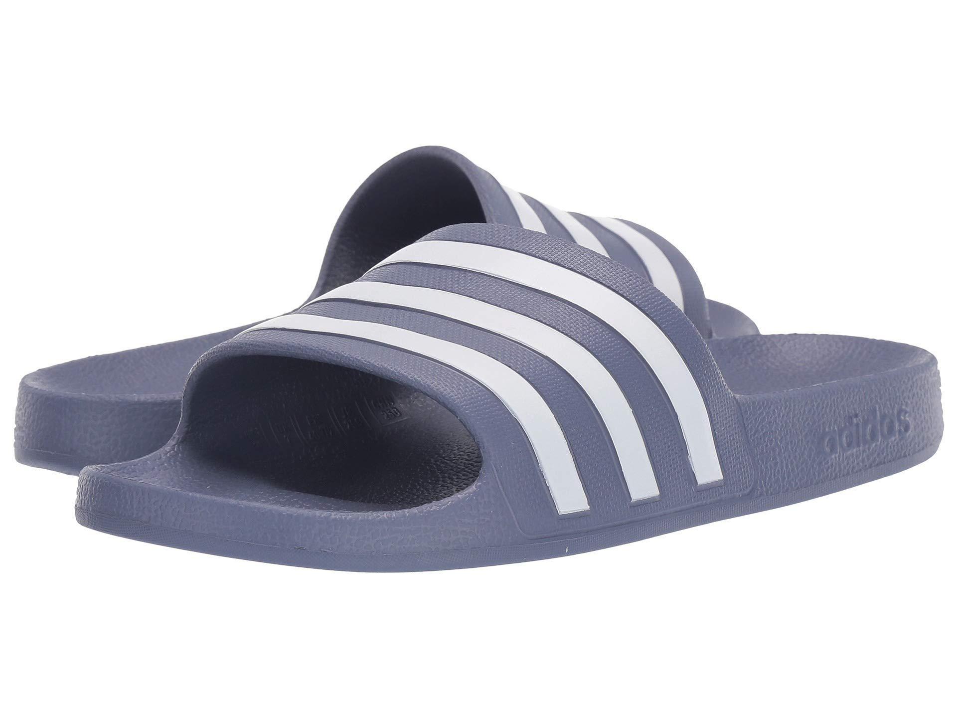 838f243a61a0 Lyst - adidas Adilette Aqua (footwear White core Black footwear ...