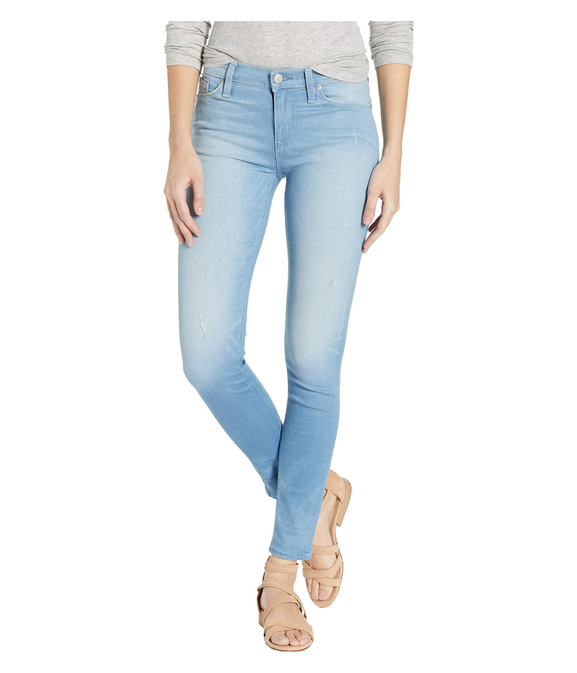 c68949ab879 Lyst - Hudson Jeans Nico Mid-rise Super Skinny In Worn Dream Away ...