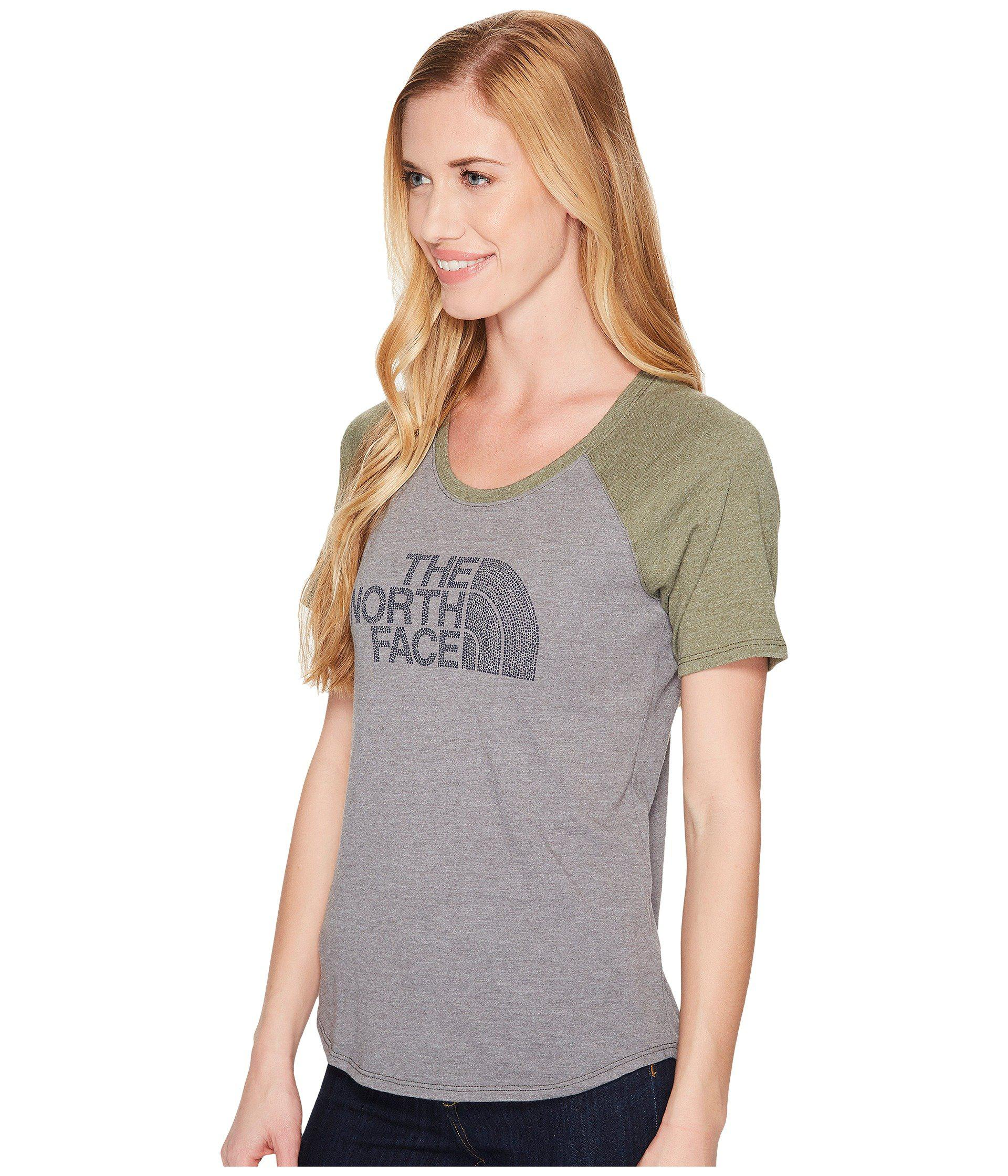 d71c287df3e68 The North Face Short Sleeve 1/2 Dome Graphic Tri-blend Baseball Tee ...