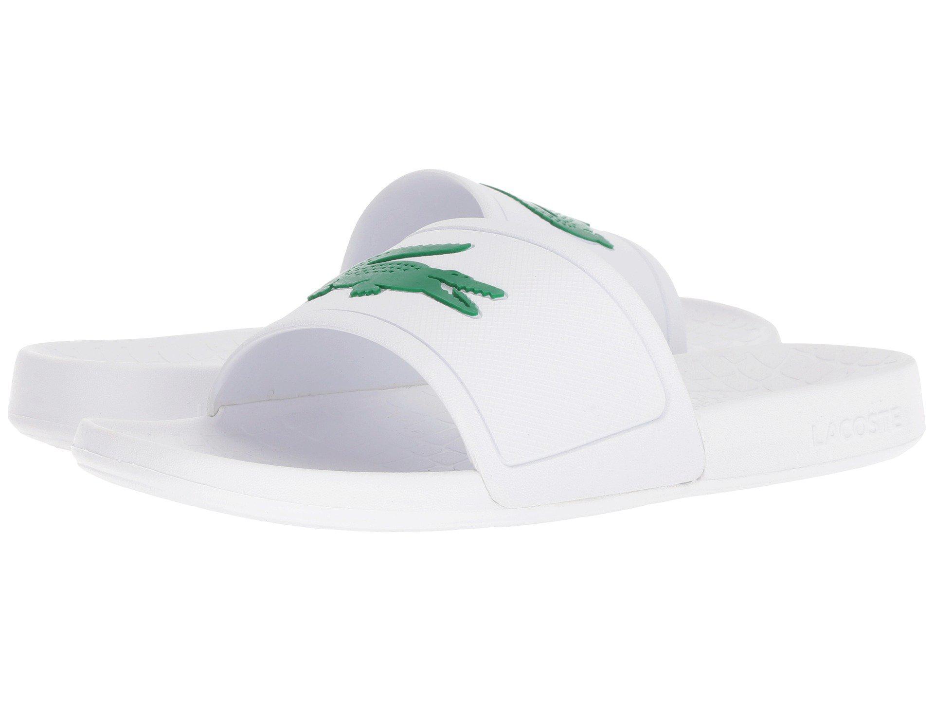 6c903723f425 Lyst - Lacoste Fraisier 318 1 P (white green) Men s Shoes in White ...