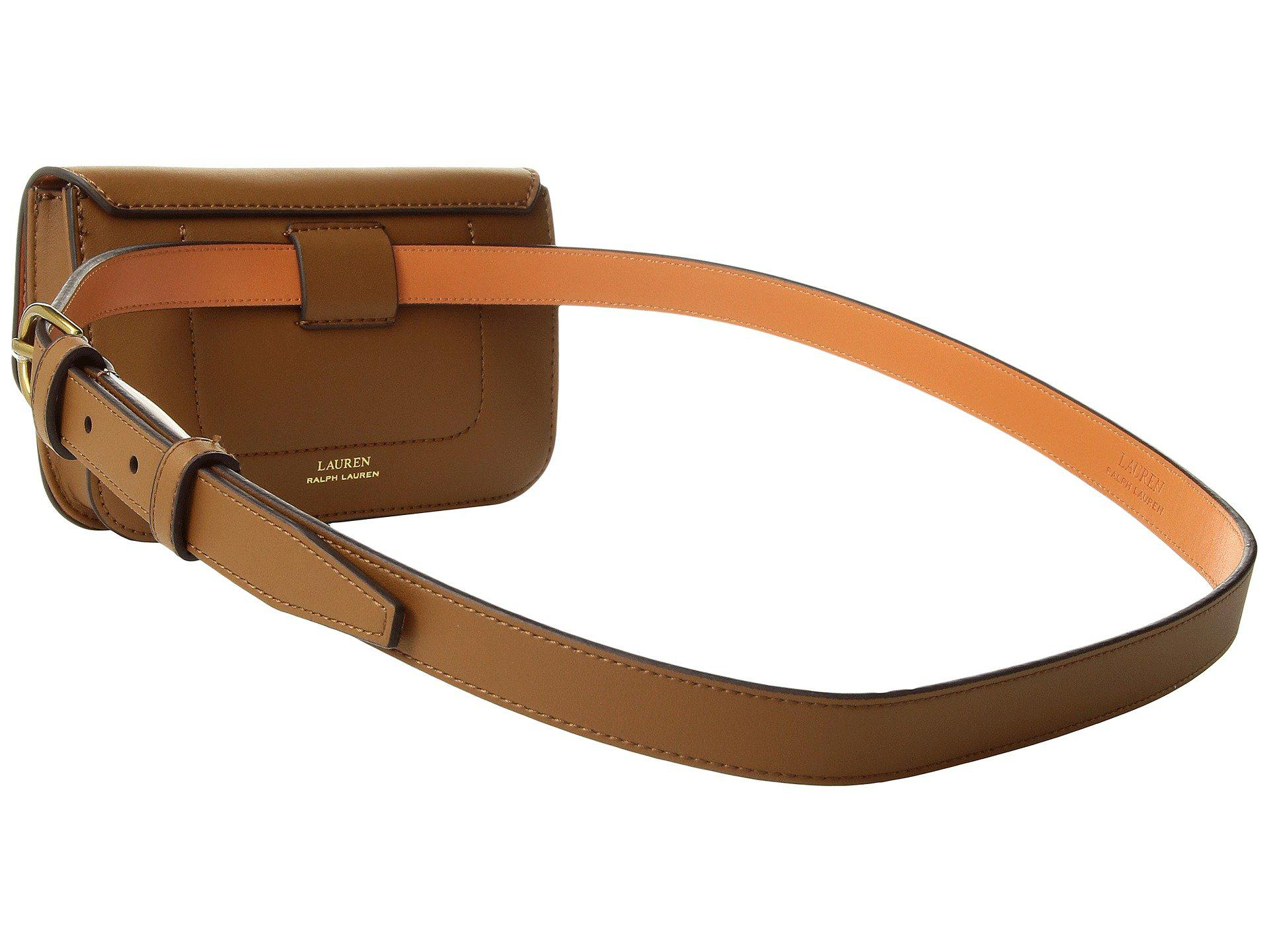 fc512968d4 Lyst - Lauren by Ralph Lauren Millbrook Belt Bag (field Brown orange ...