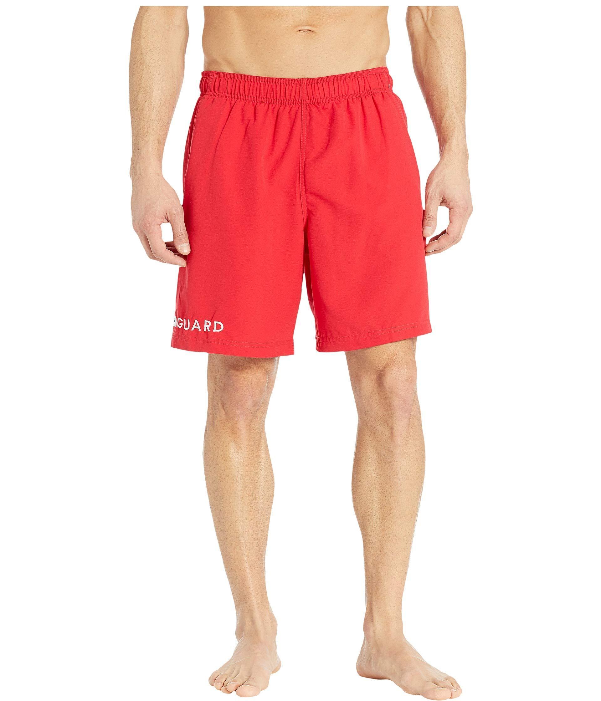 3dd2713cf8 Speedo 19 Guard Volley Shorts ( Red) Men's Swimwear in Red for Men ...