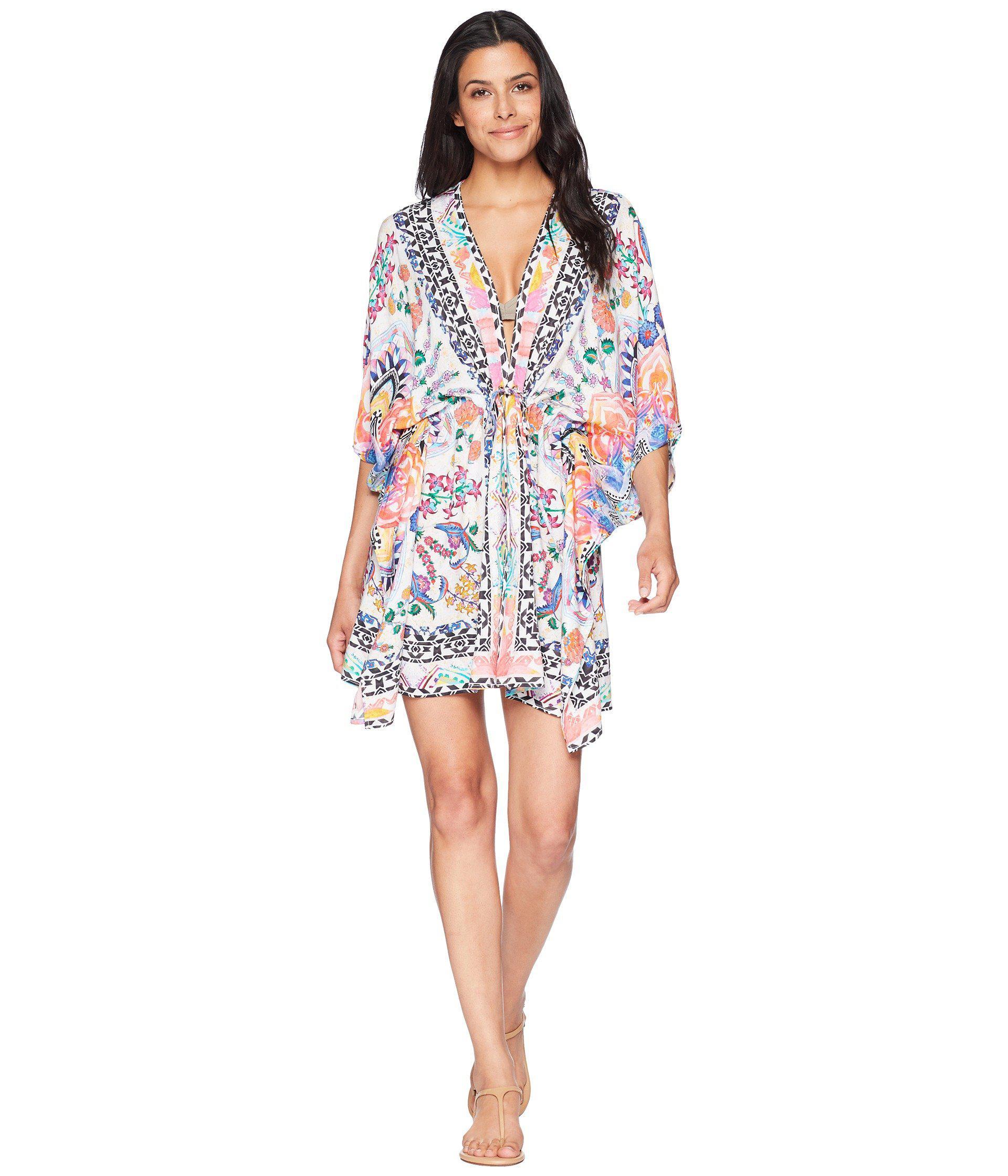 c6921a6561 La Blanca Majorca Kimono Cover-up (multi) Women's Swimwear - Lyst