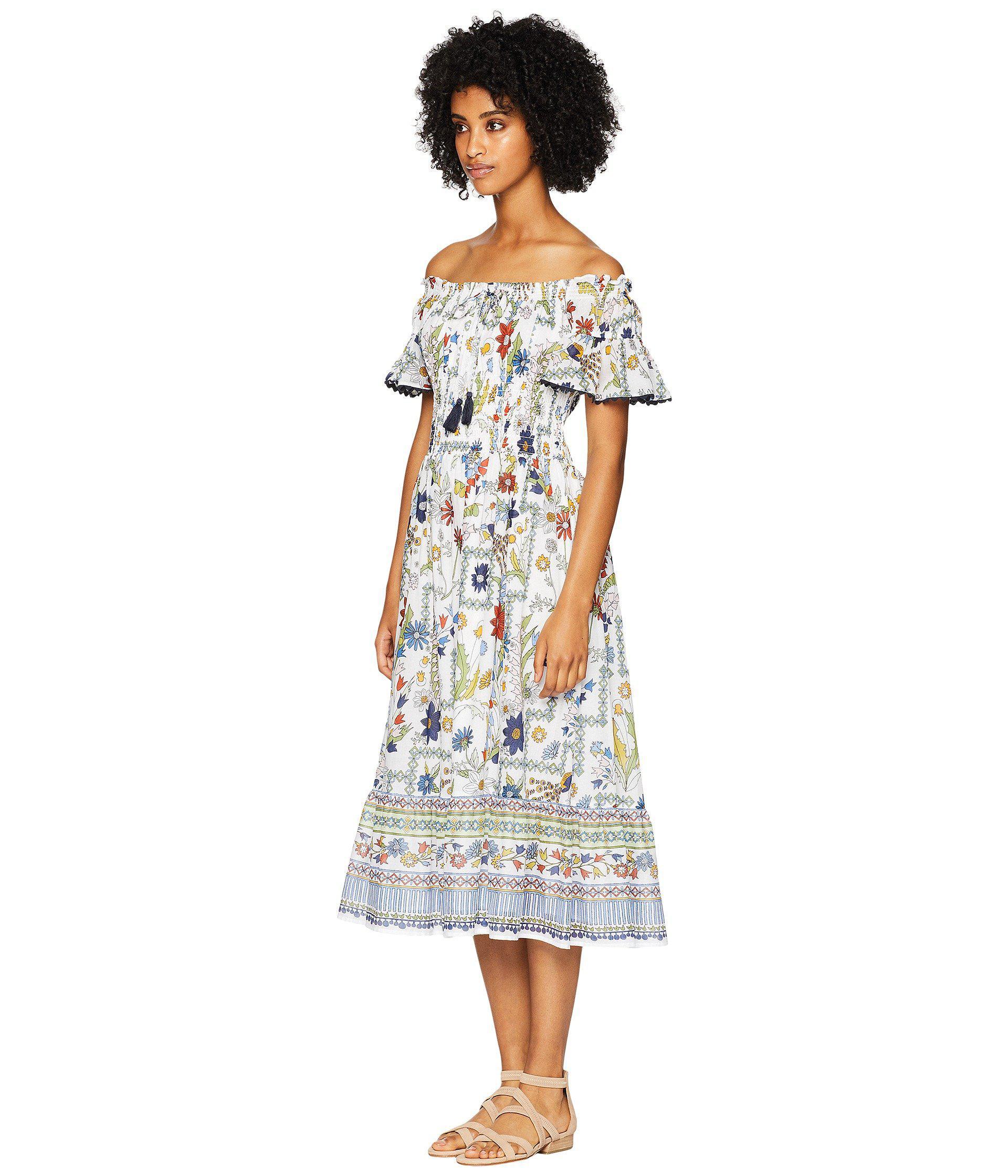 516f472617 Tory Burch Meadow Folly Dress Cover-up (ivory Meadow Folly) Women's ...
