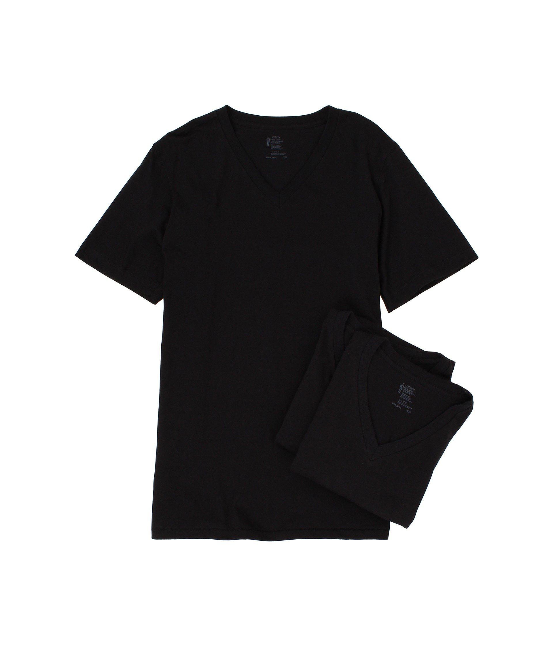 6cf568b0d Jockey Cotton V-neck T-shirt 3-pack (white) Men s Underwear in Black ...