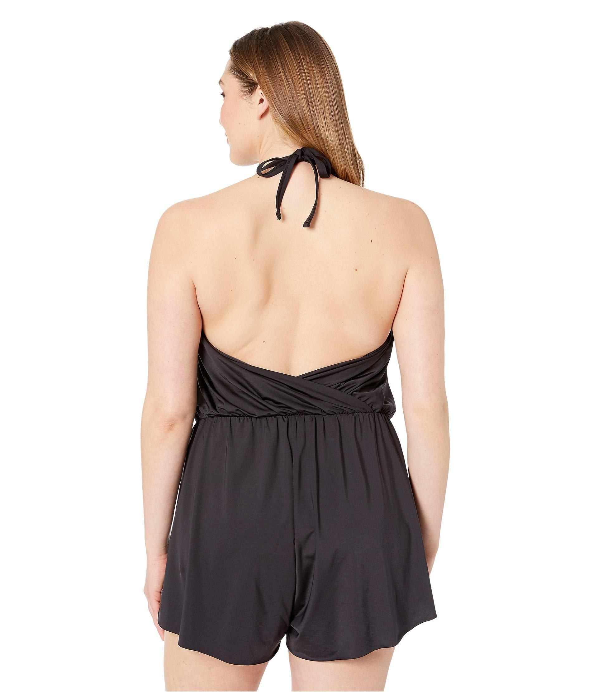3411dd27aa4 Kenneth Cole - Plus Size Ruffle-licious Romper Cover-up (black) Women s.  View fullscreen