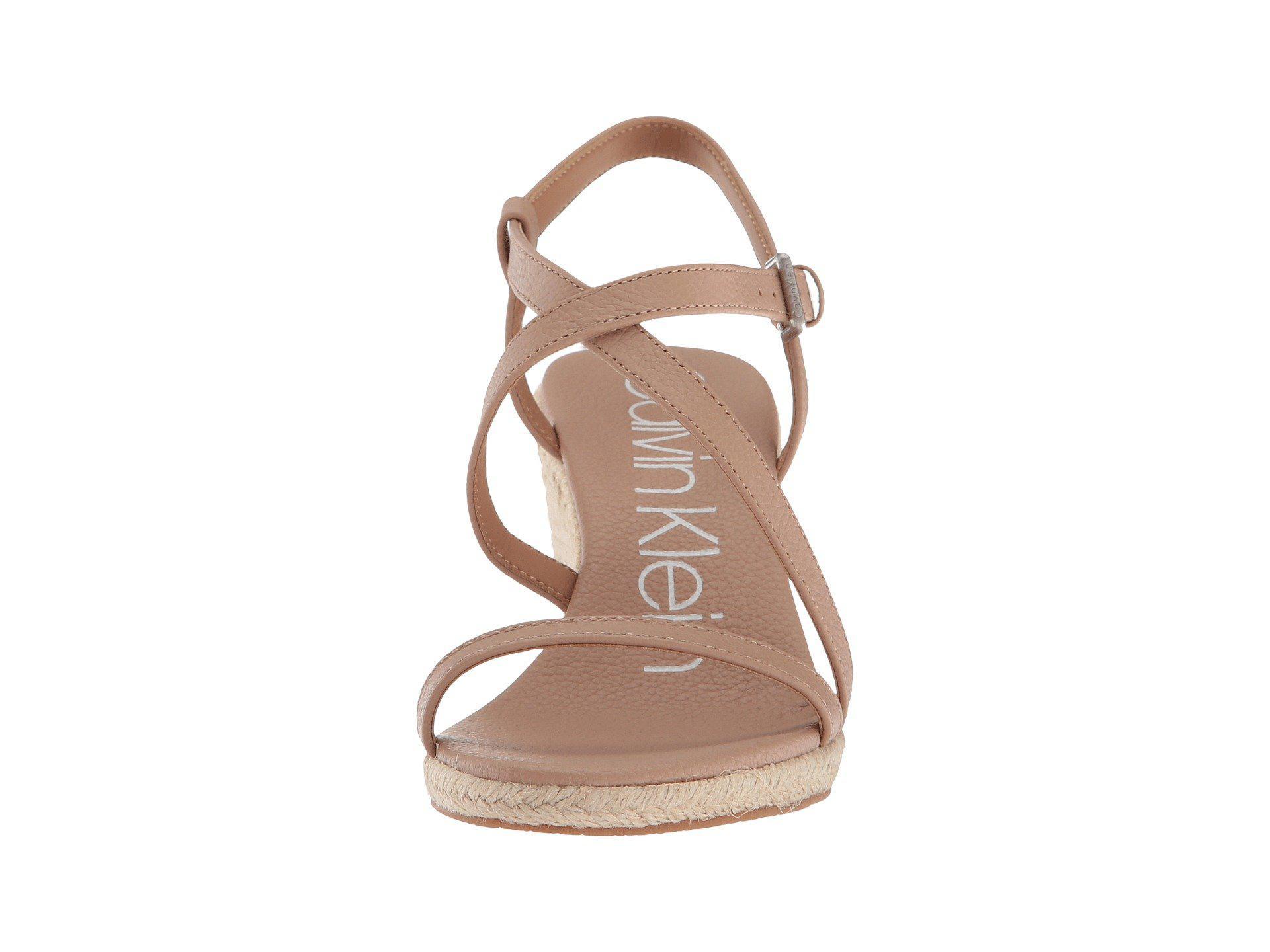 1ff744b320a4e Calvin Klein - Natural Bellemine Espadrille Wedge (soft Platinum) Women s  Wedge Shoes - Lyst. View fullscreen